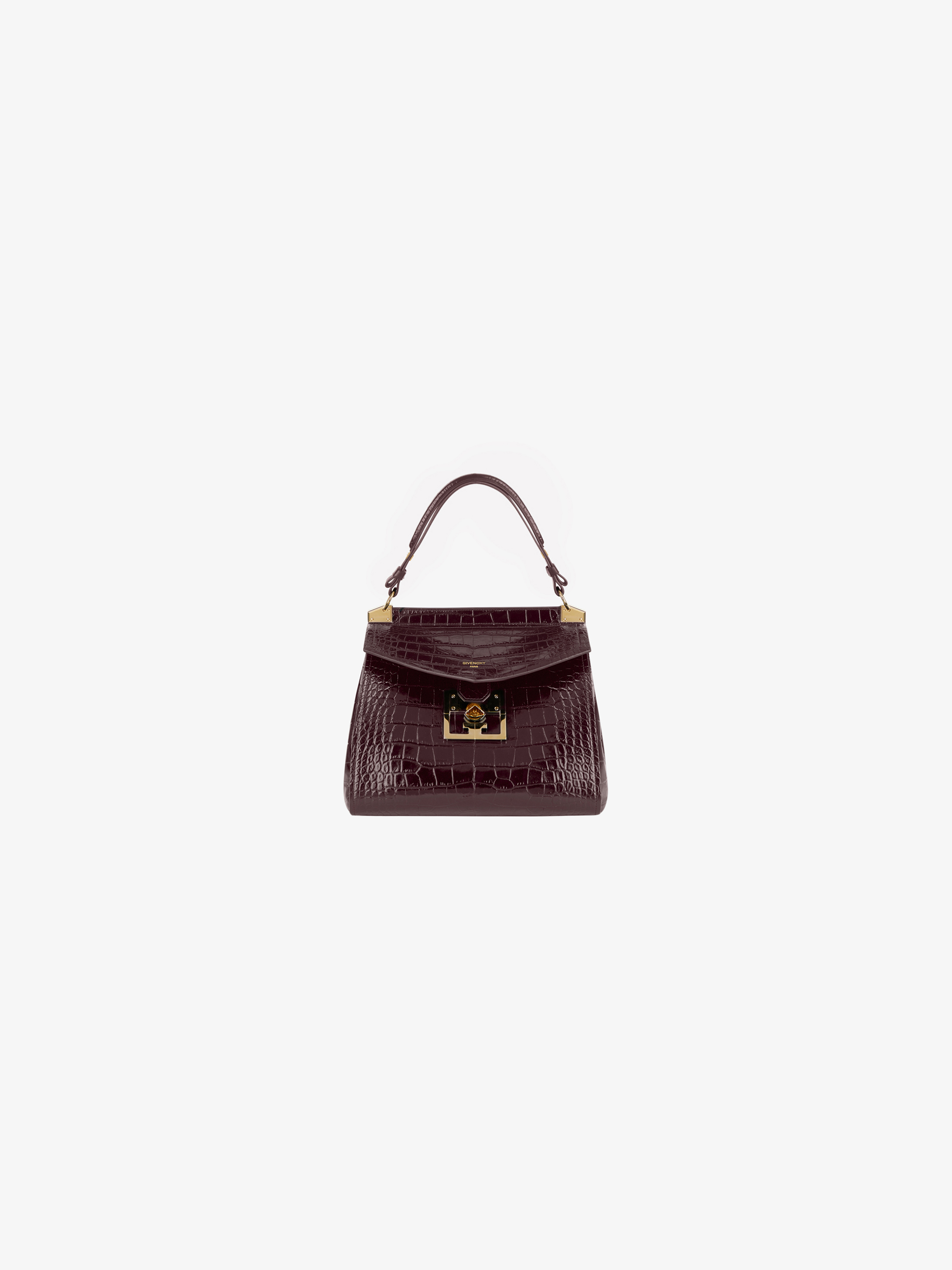 Small Mystic bag in crocodile effect leather