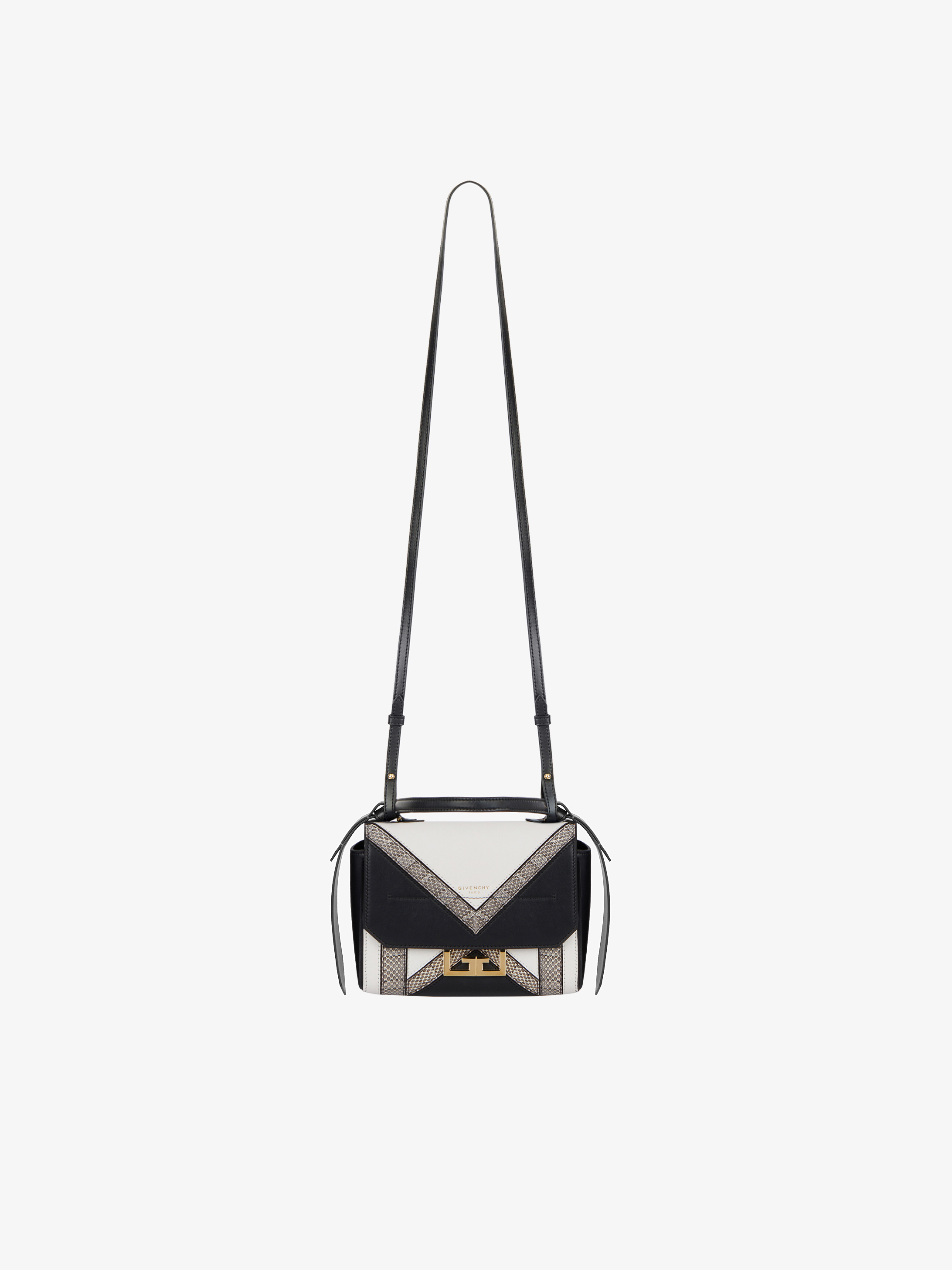 Mini Eden bag in ayers and leather