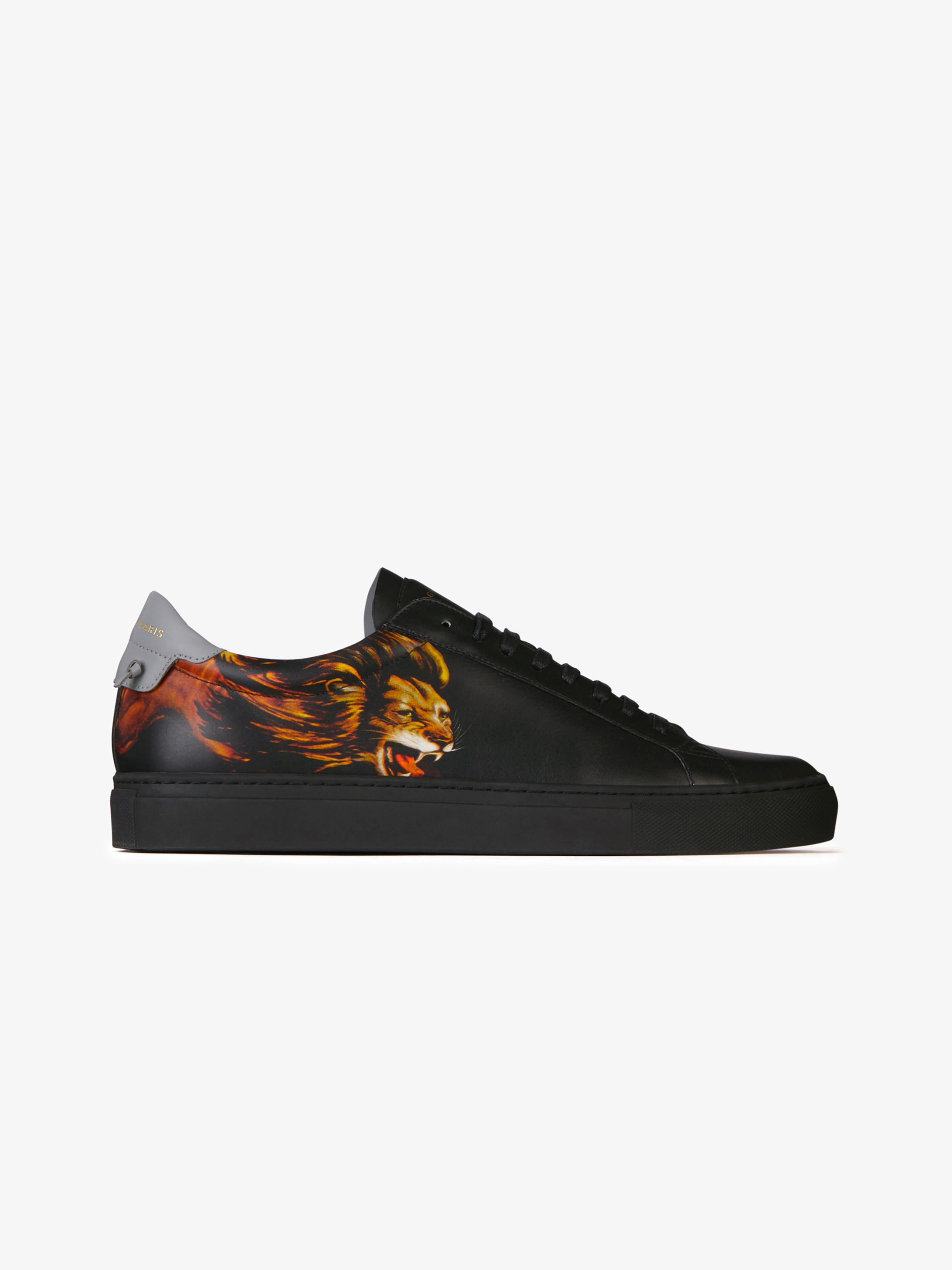 aa55ea180373 Leo printed sneakers in leather