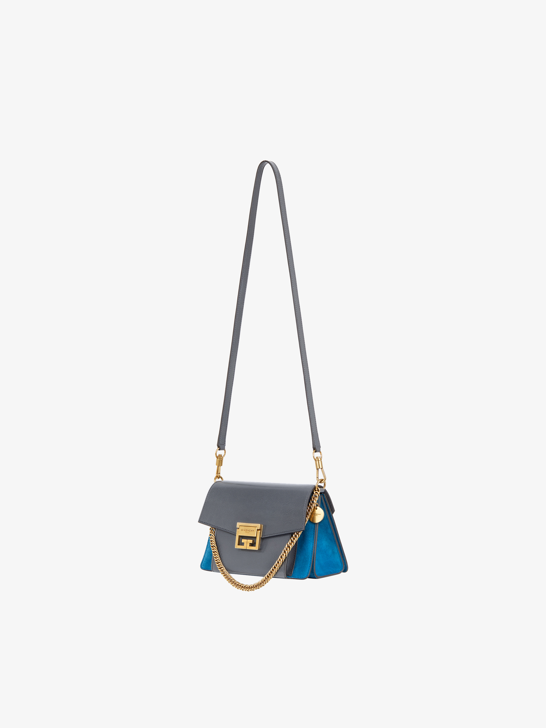 Small GV3 bag in leather and suede