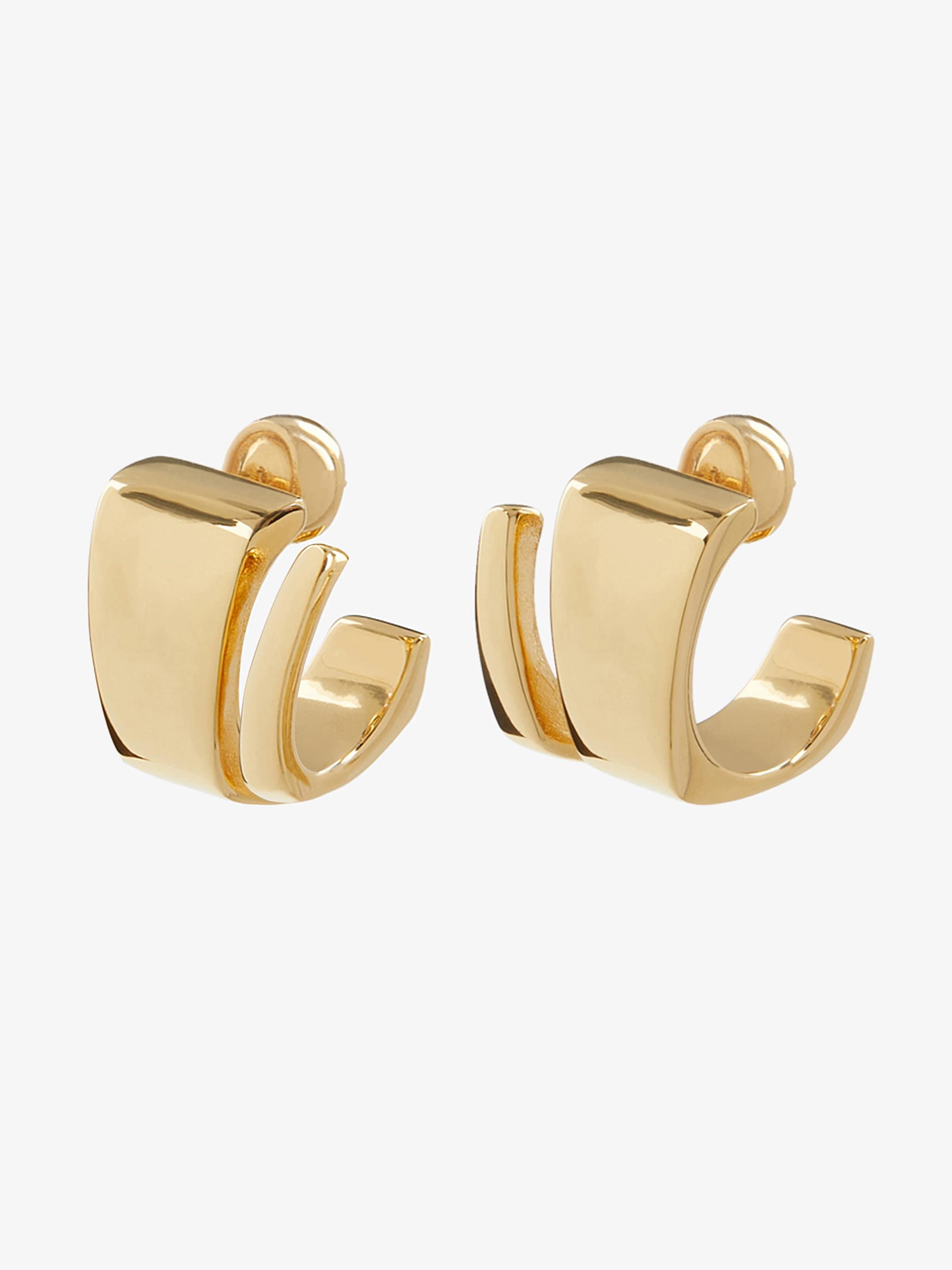 Twist earrings in bronze