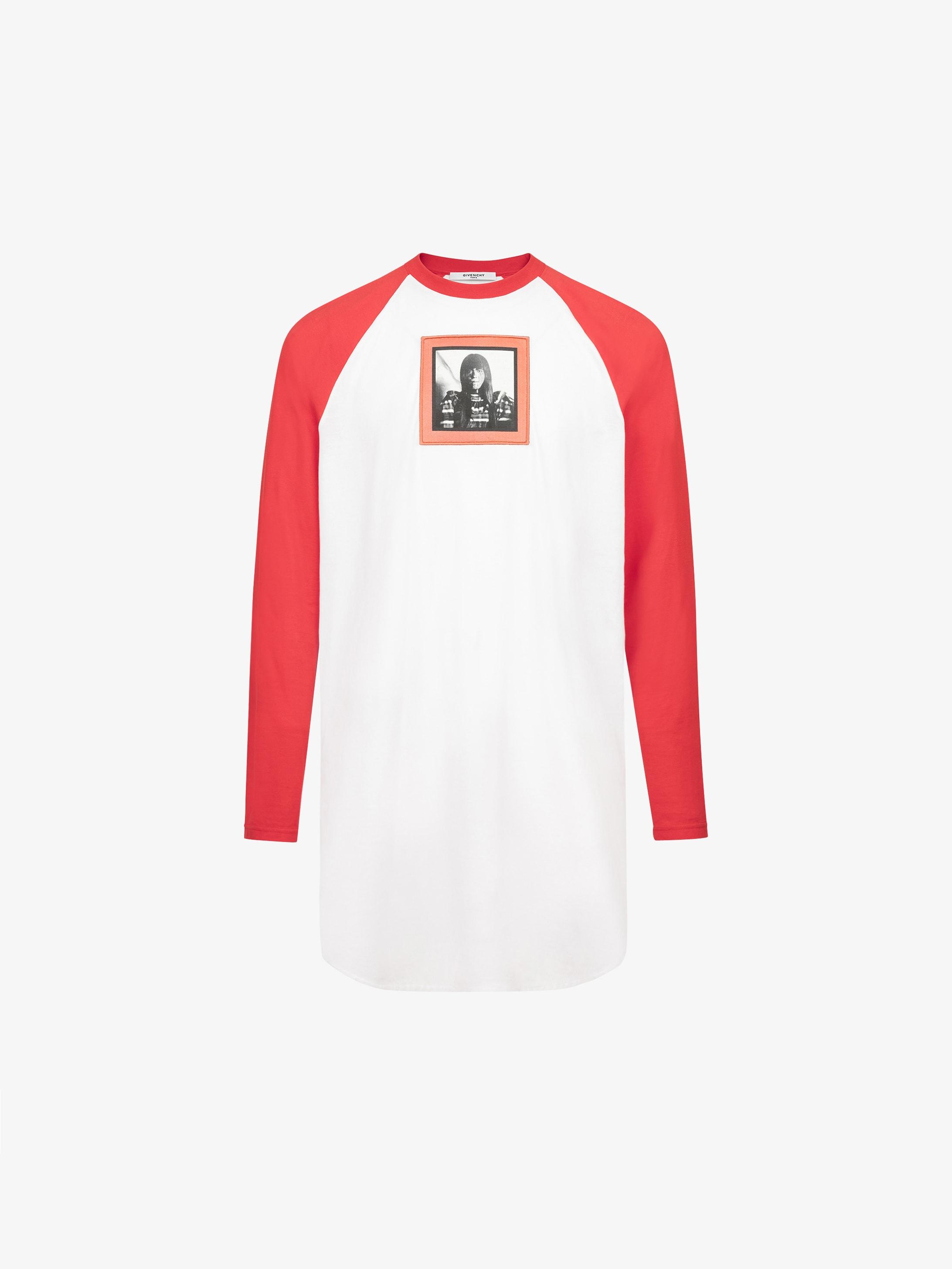T-shirt a maniche lunghe con stampa