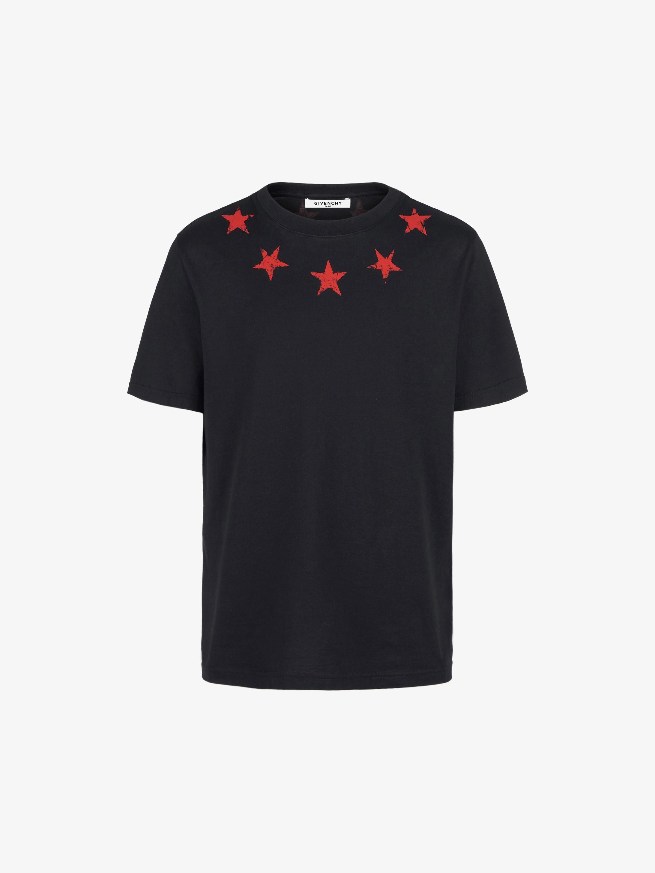 Vintage stars around the neck oversized T-shirt