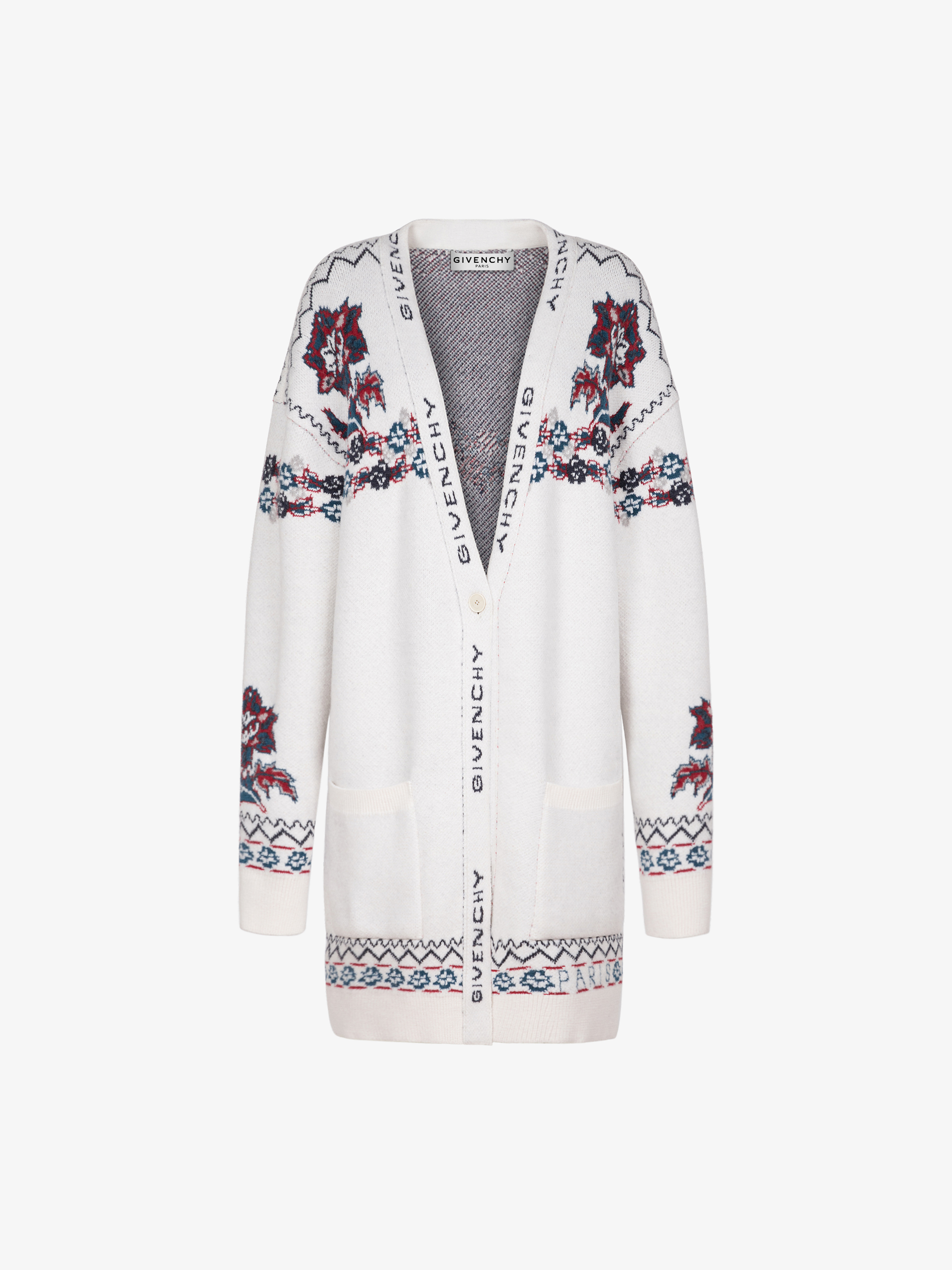 GIVENCHY long cardigan in floral jacquard