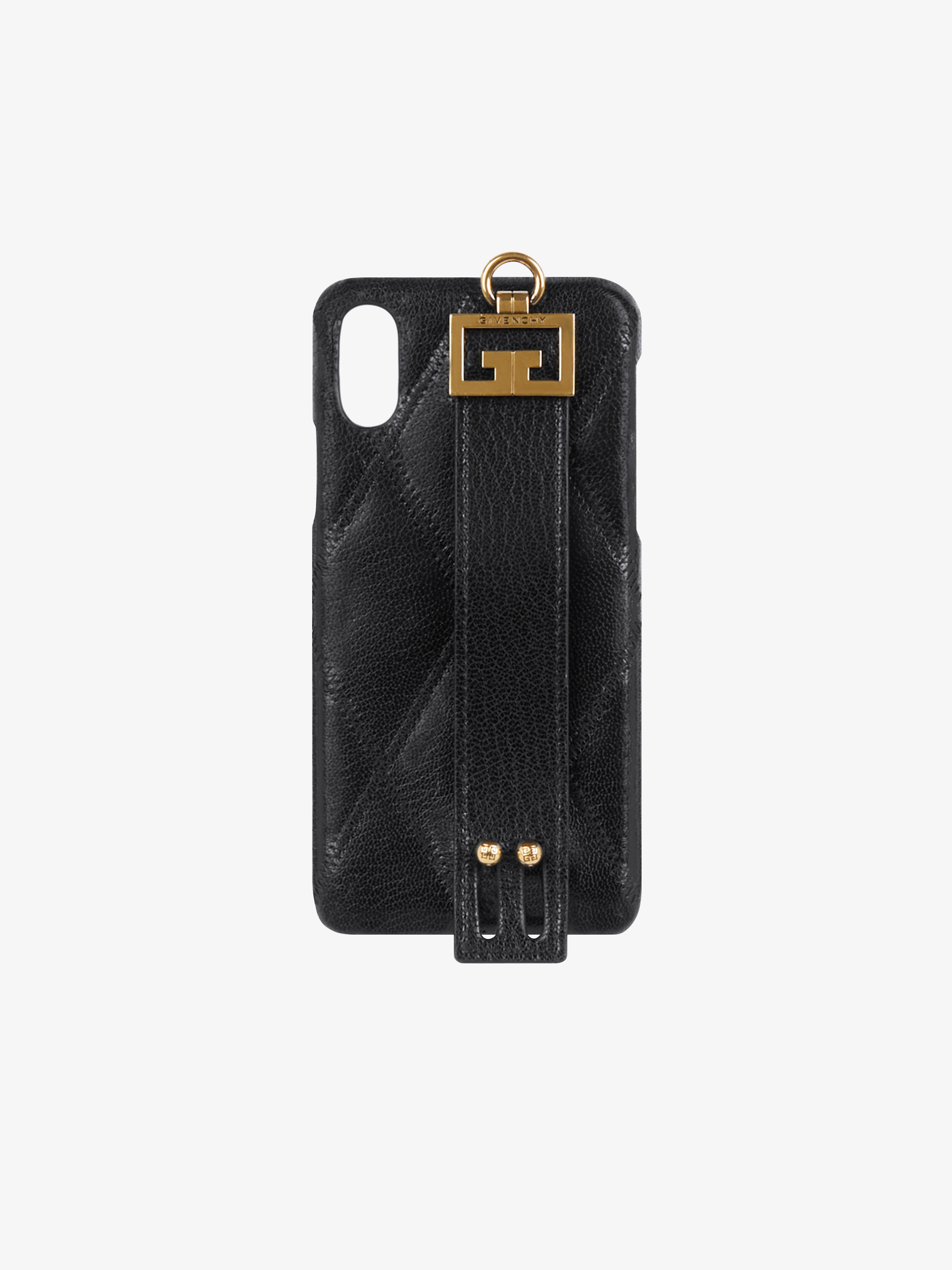 Iphone XS / X cover in diamond quilted leather