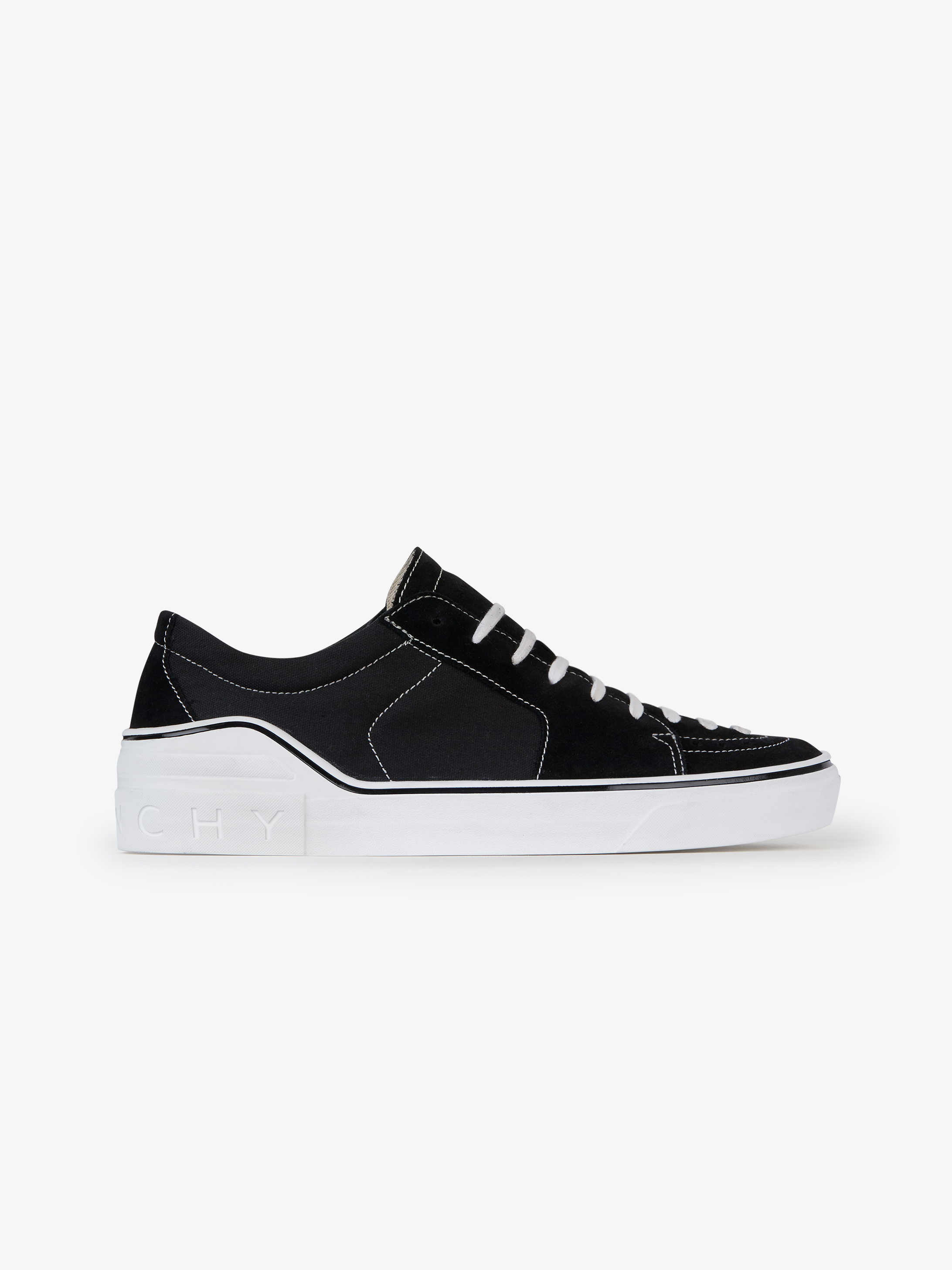 Star perforated low sneakers