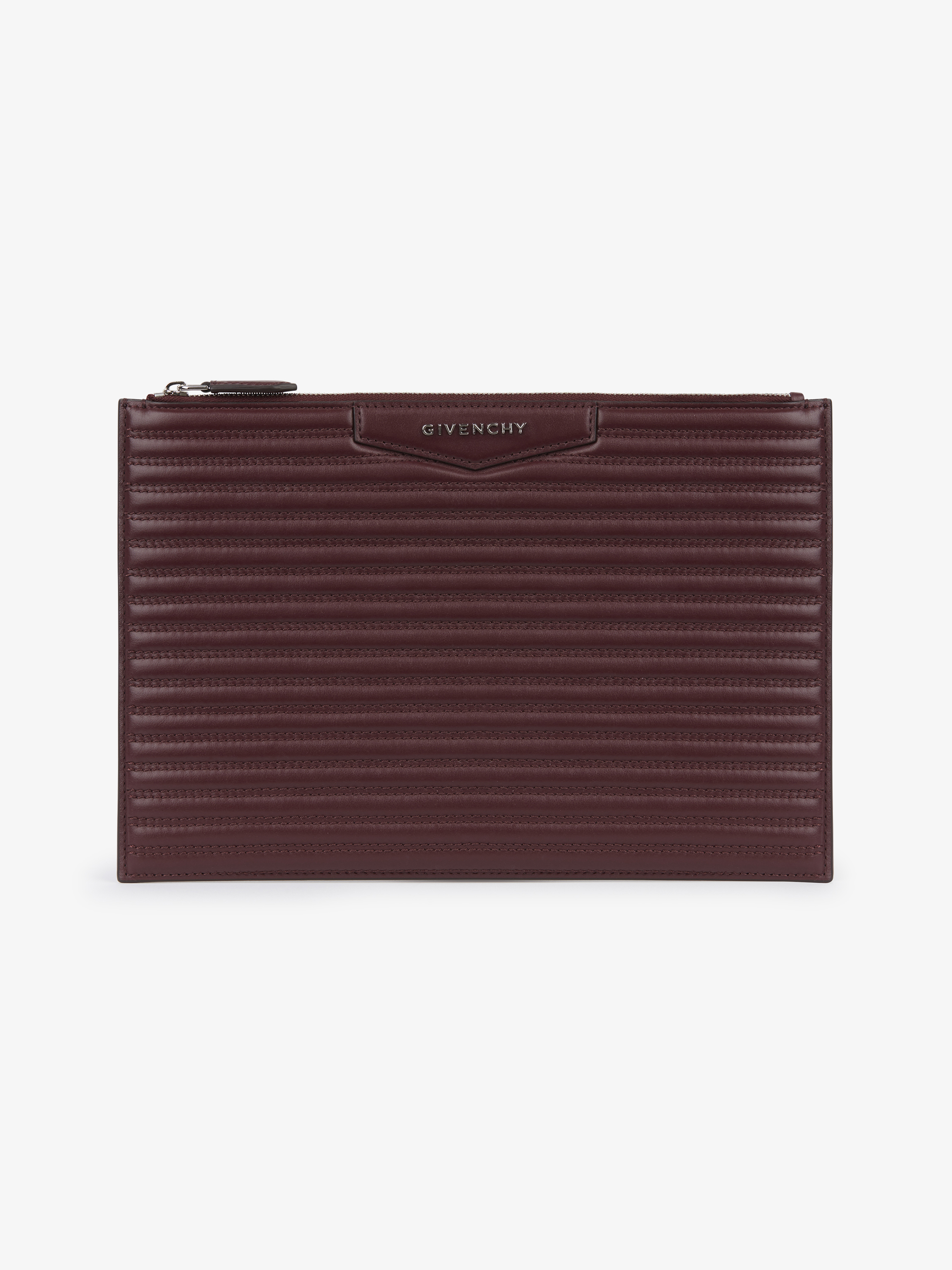 Antigona pouch in stitched leather