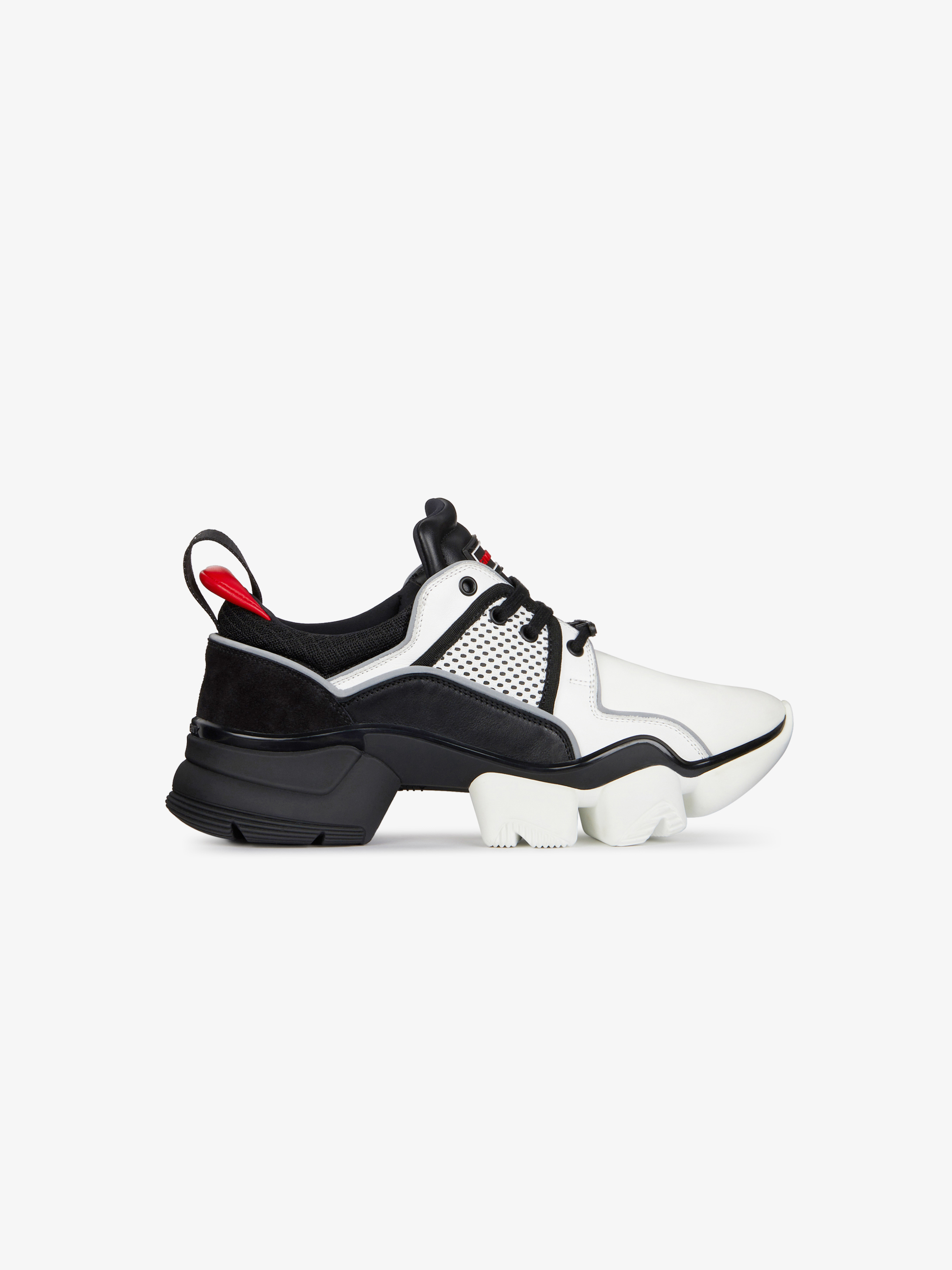 Two-toned Jaw low sneakers in neoprene and leather