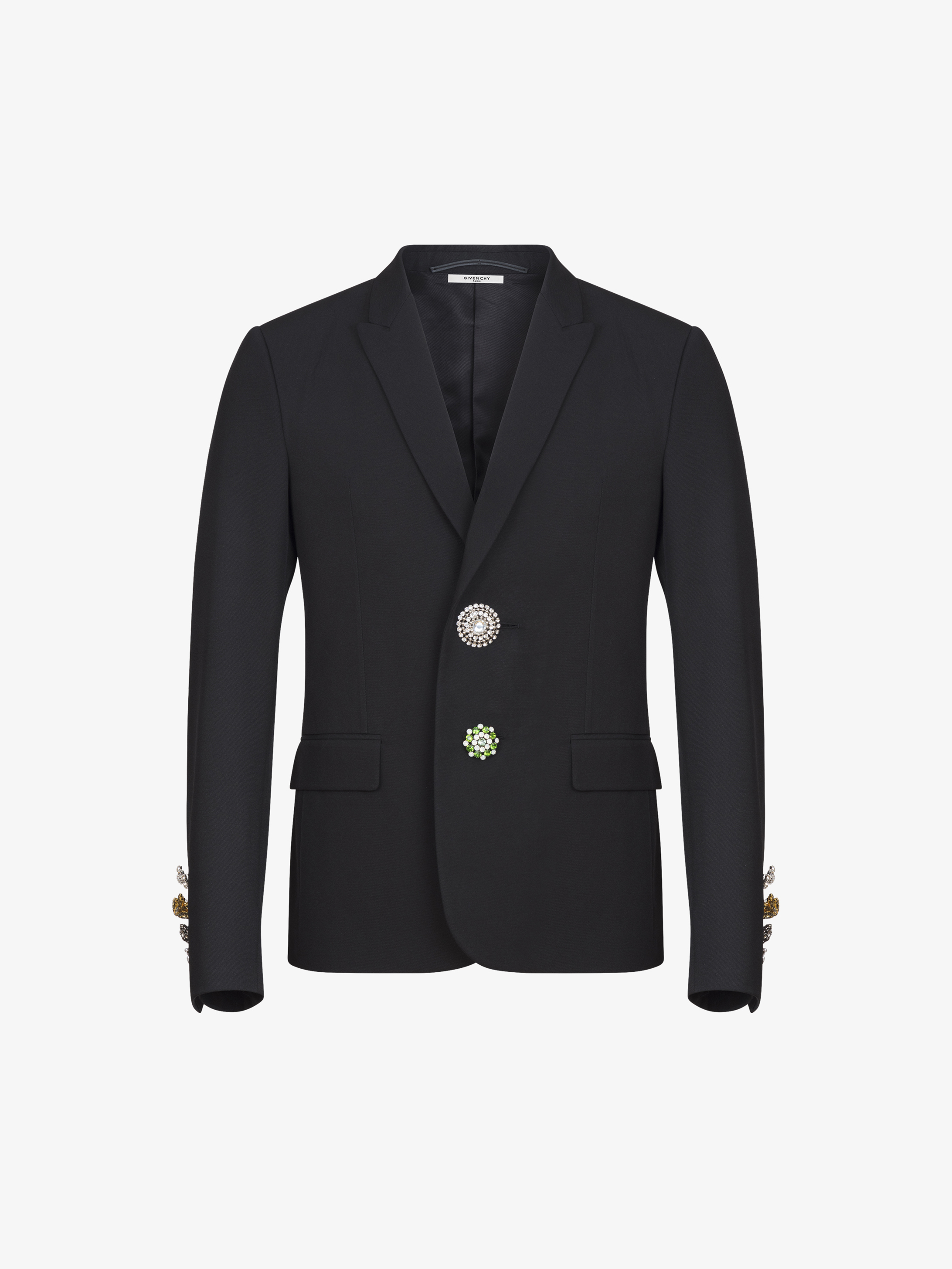 Jewelry buttons jacket