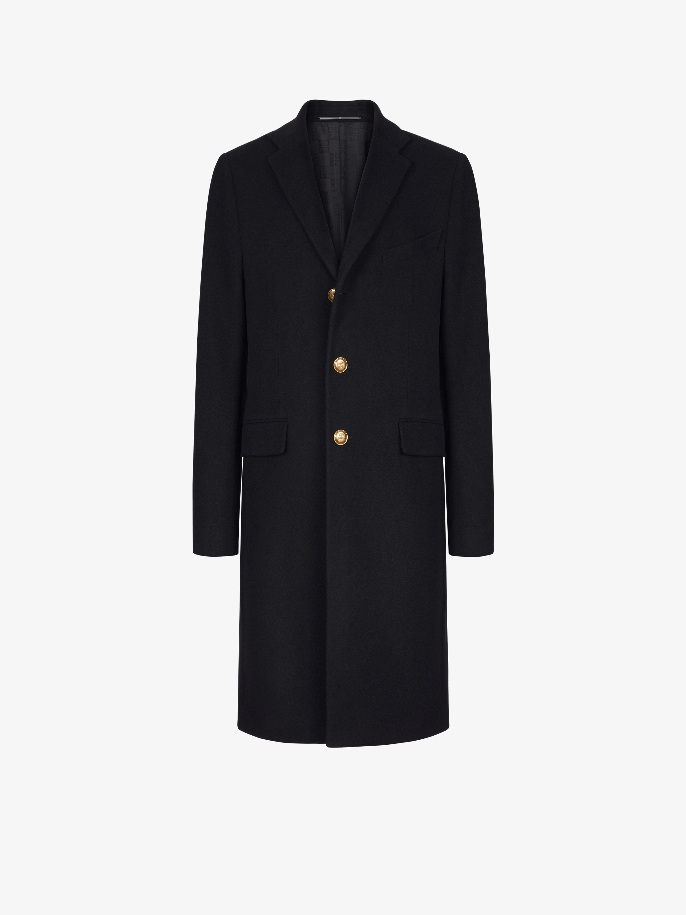 Coat in wool and cashmere with 4G buttons