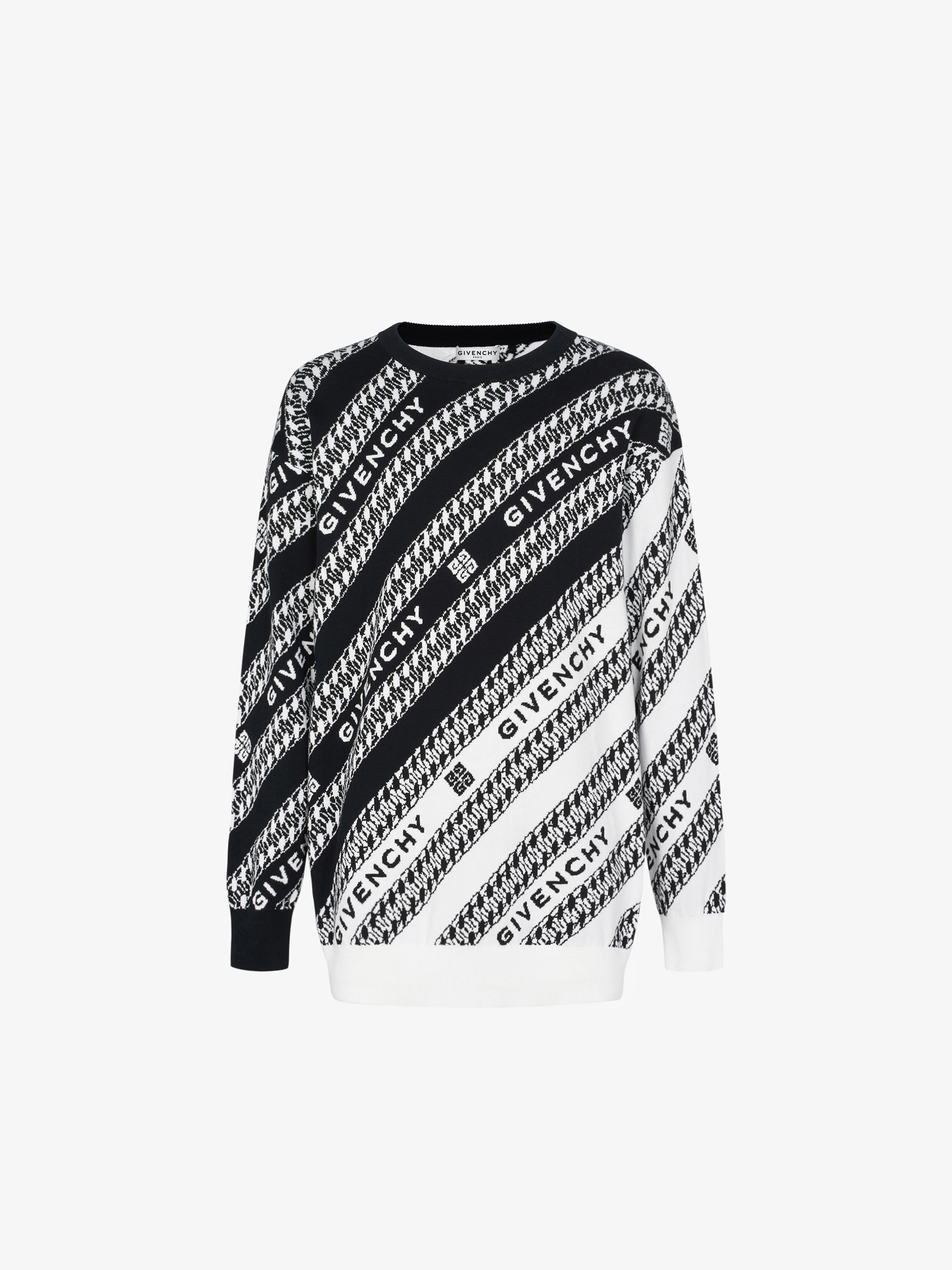 GIVENCHY Chain oversized sweater in cotton