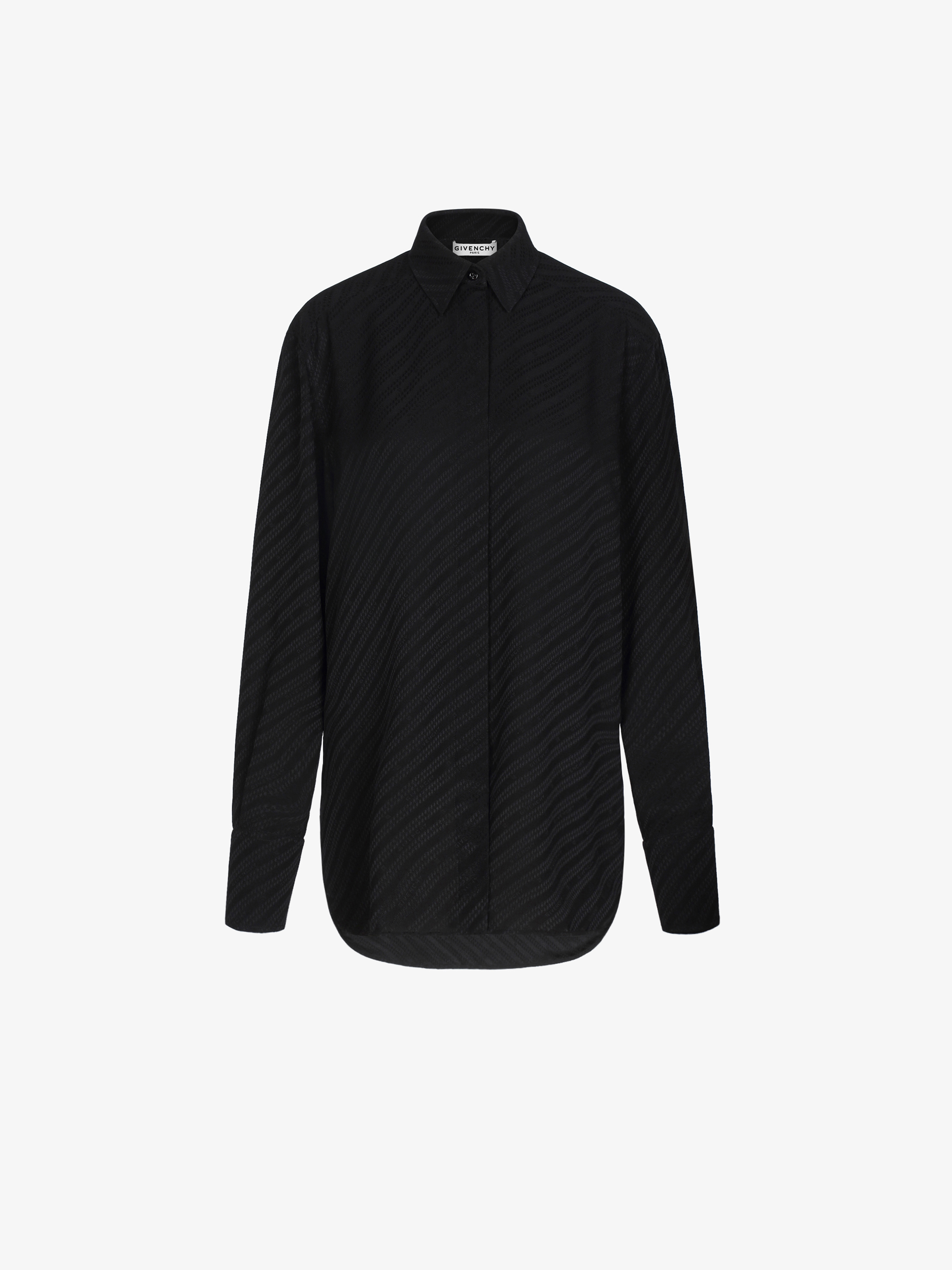 GIVENCHY chain shirt in silk jacquard