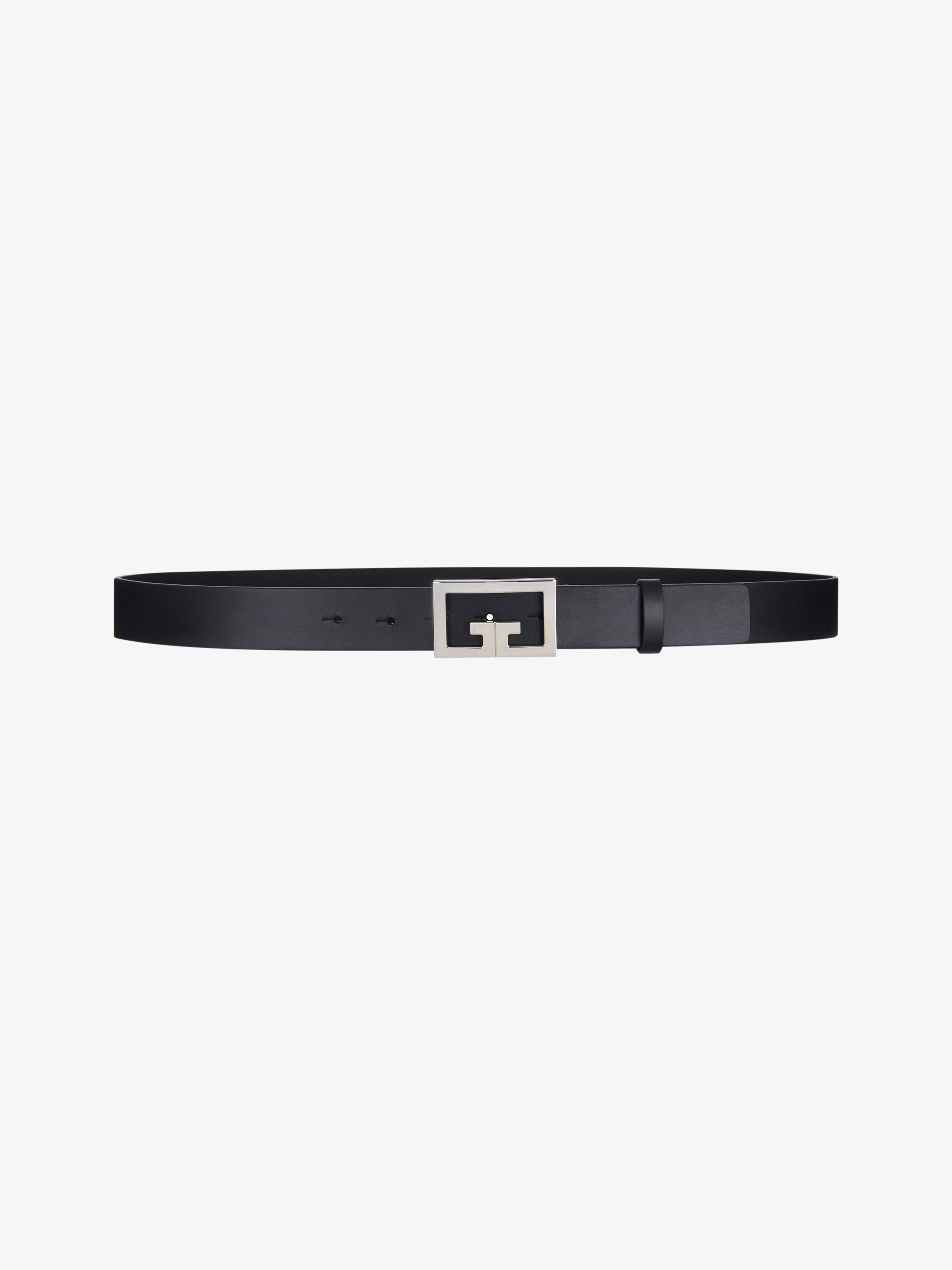 Double G buckle belt in leather