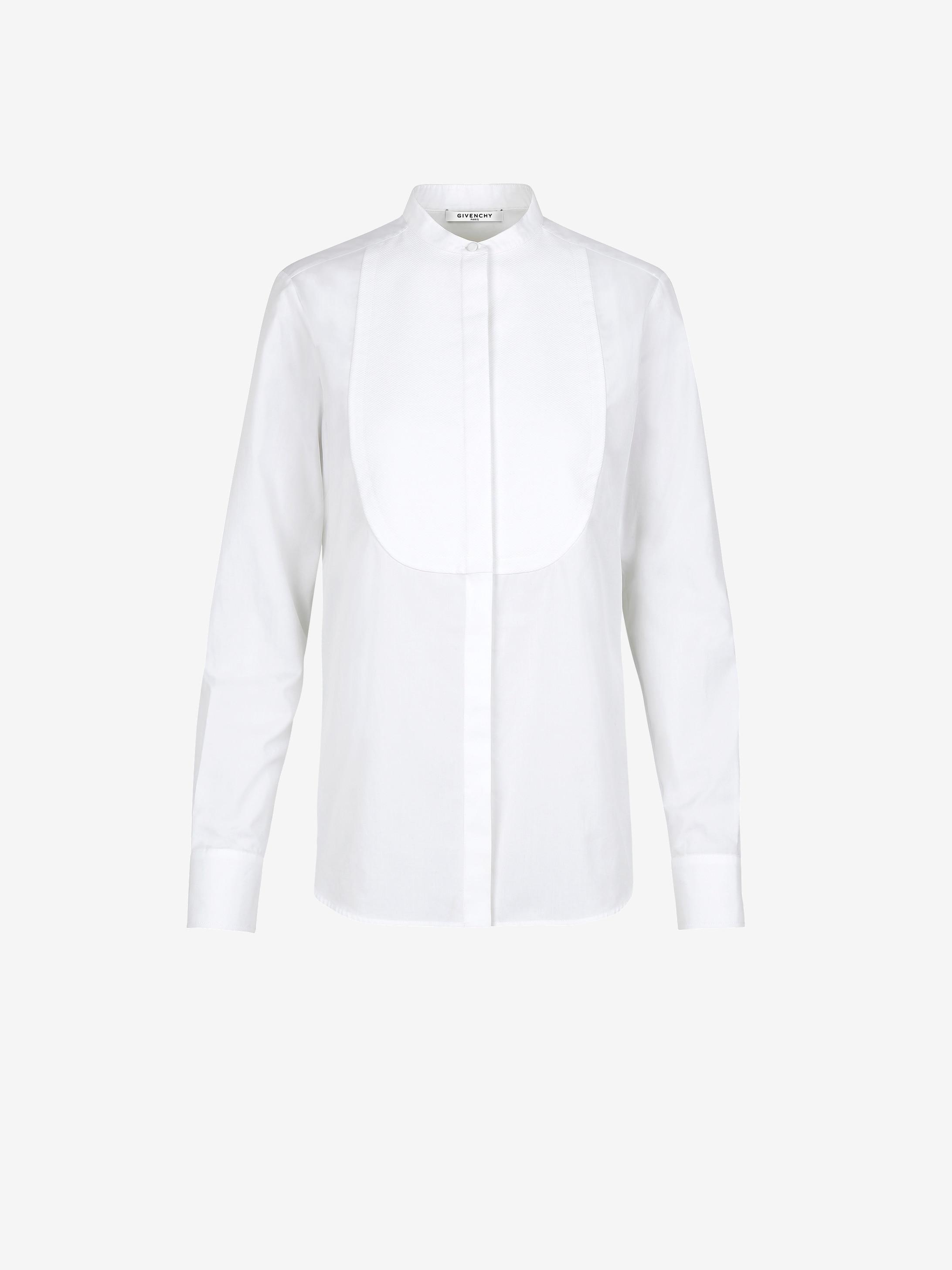 府绸胸饰衬衫