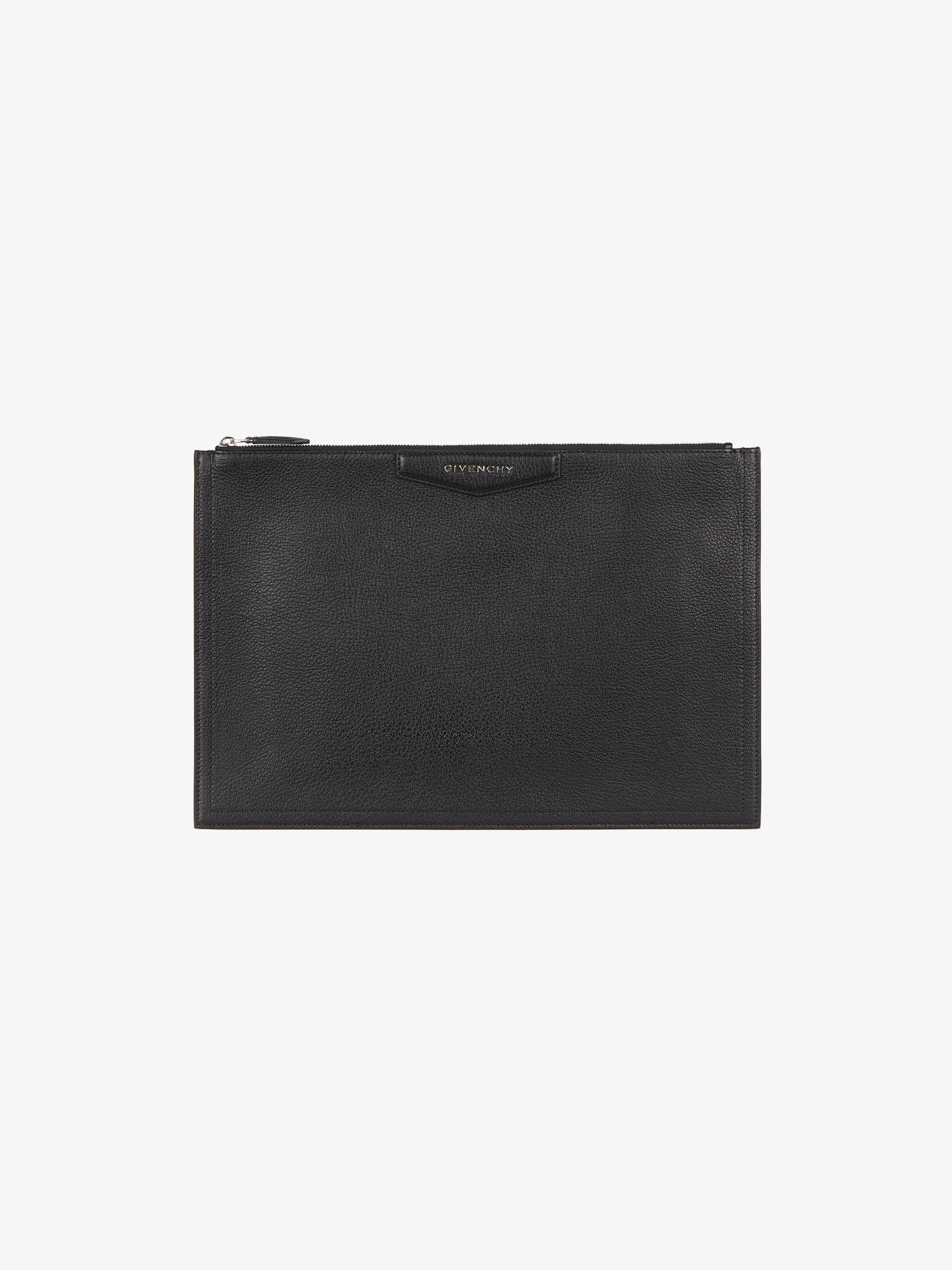 Large pouch Antigona in grained leather
