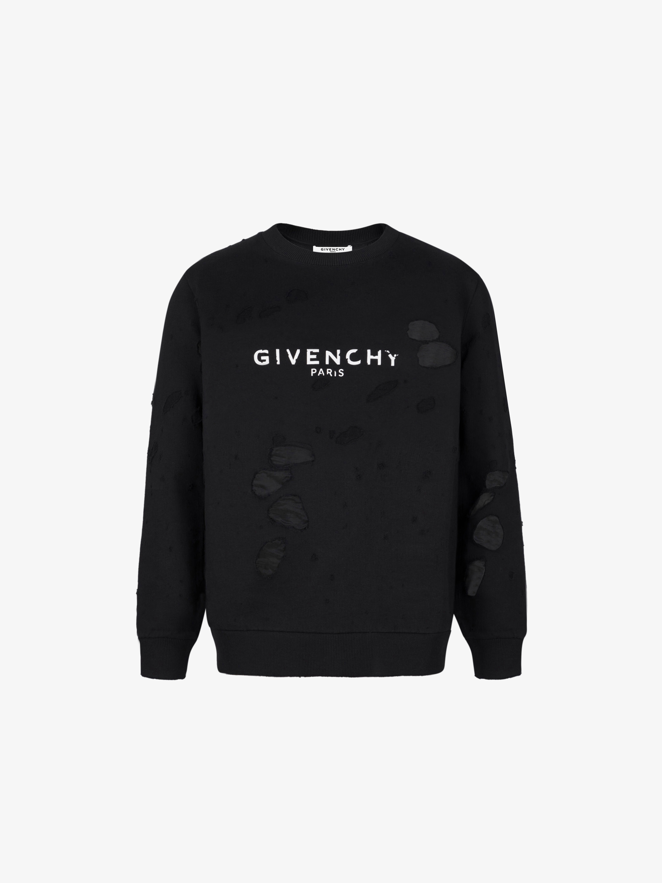 GIVENCHY PARIS破洞卫衣