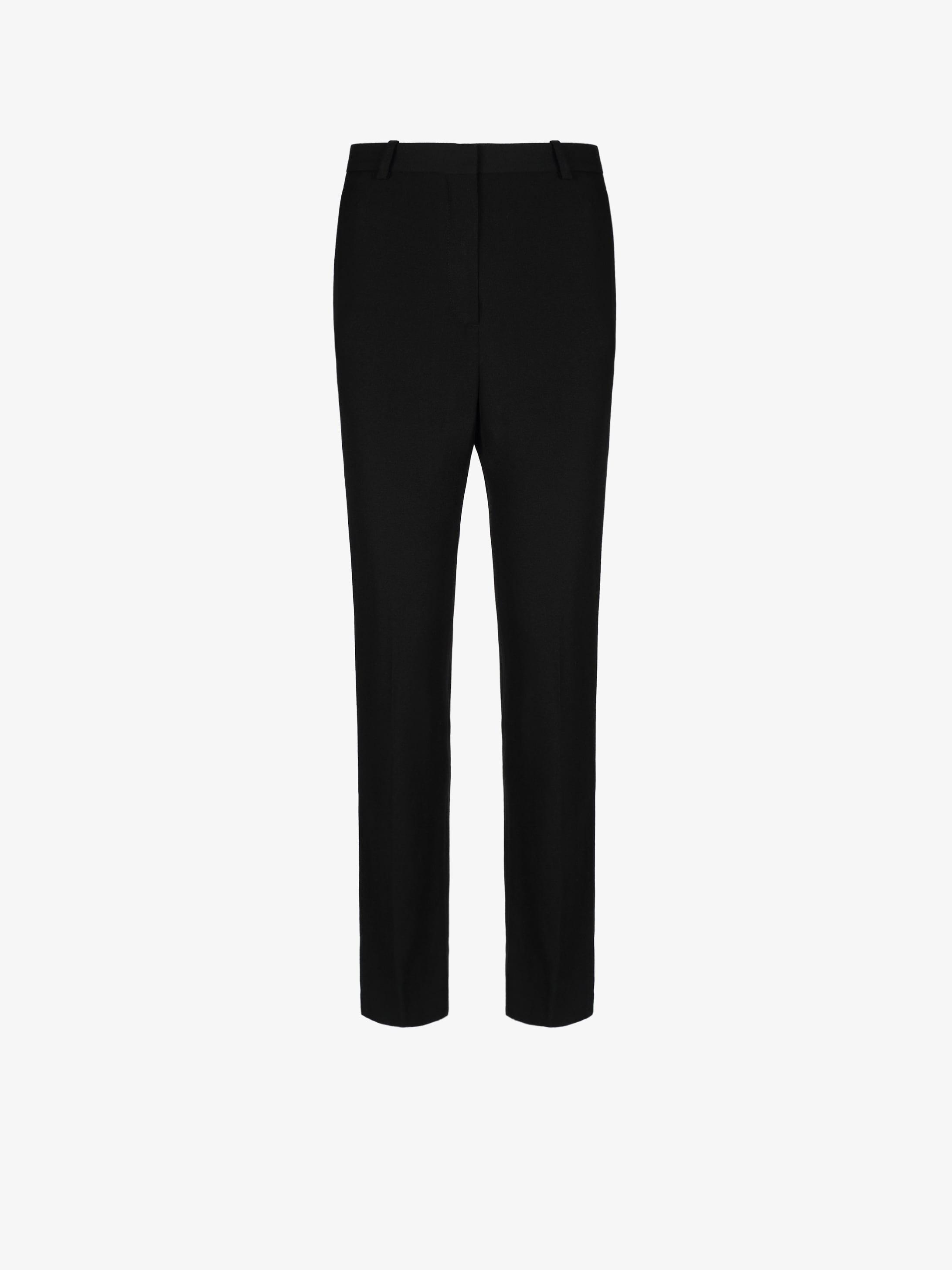 Slim fit trousers in grain de poudre