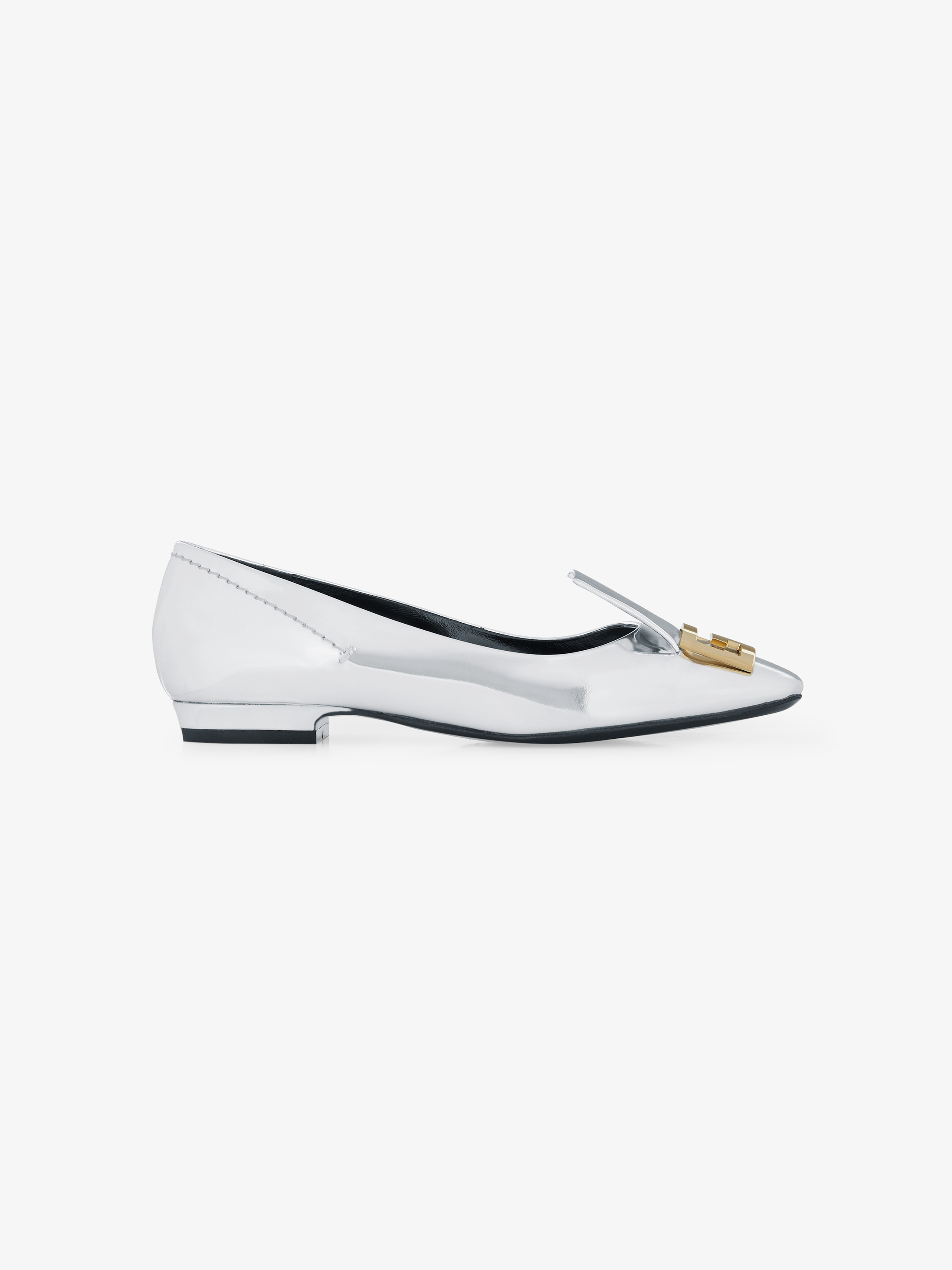 Double G Mystic loafers in mirror effect leather