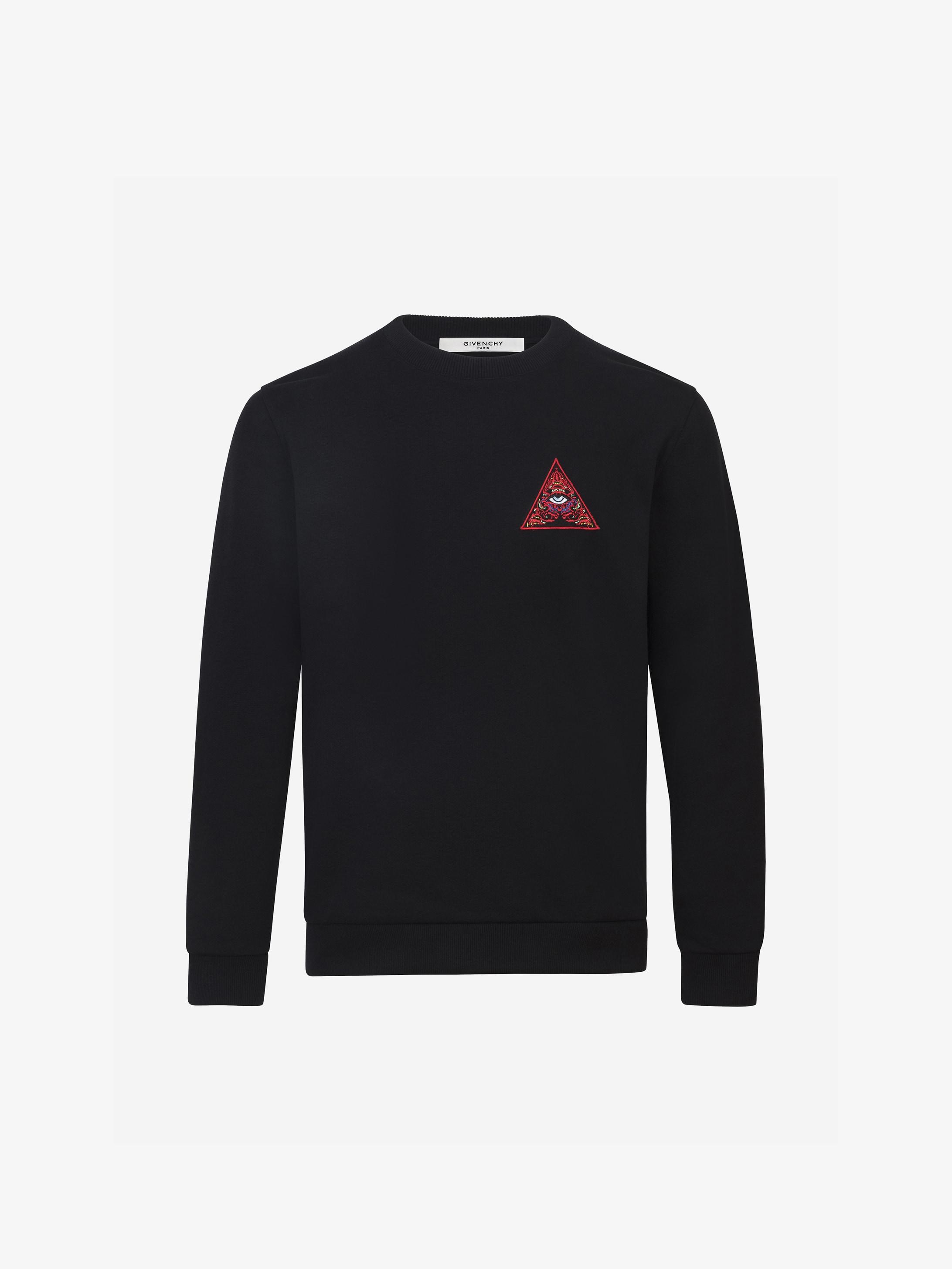 Sweatshirt brodé REAL EYES