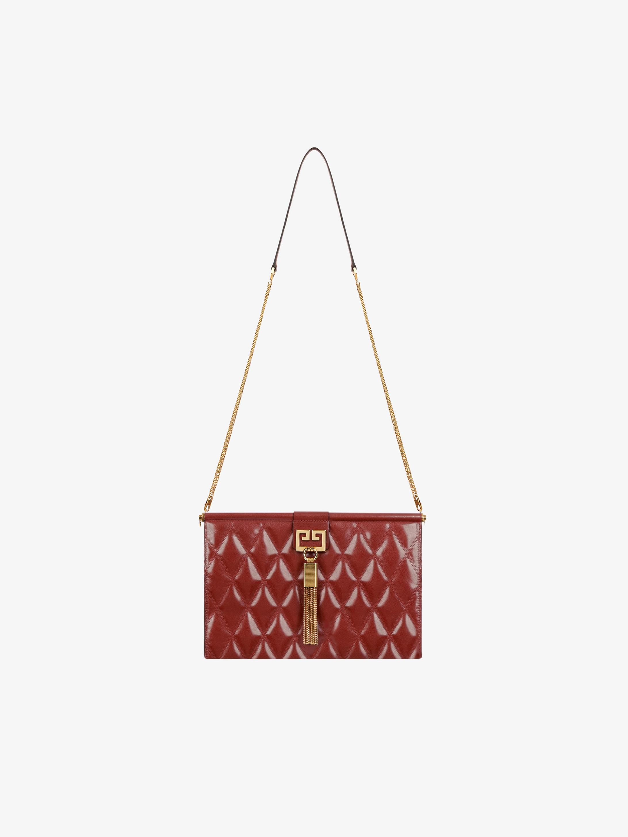 Medium GEM bag in diamond quilted leather