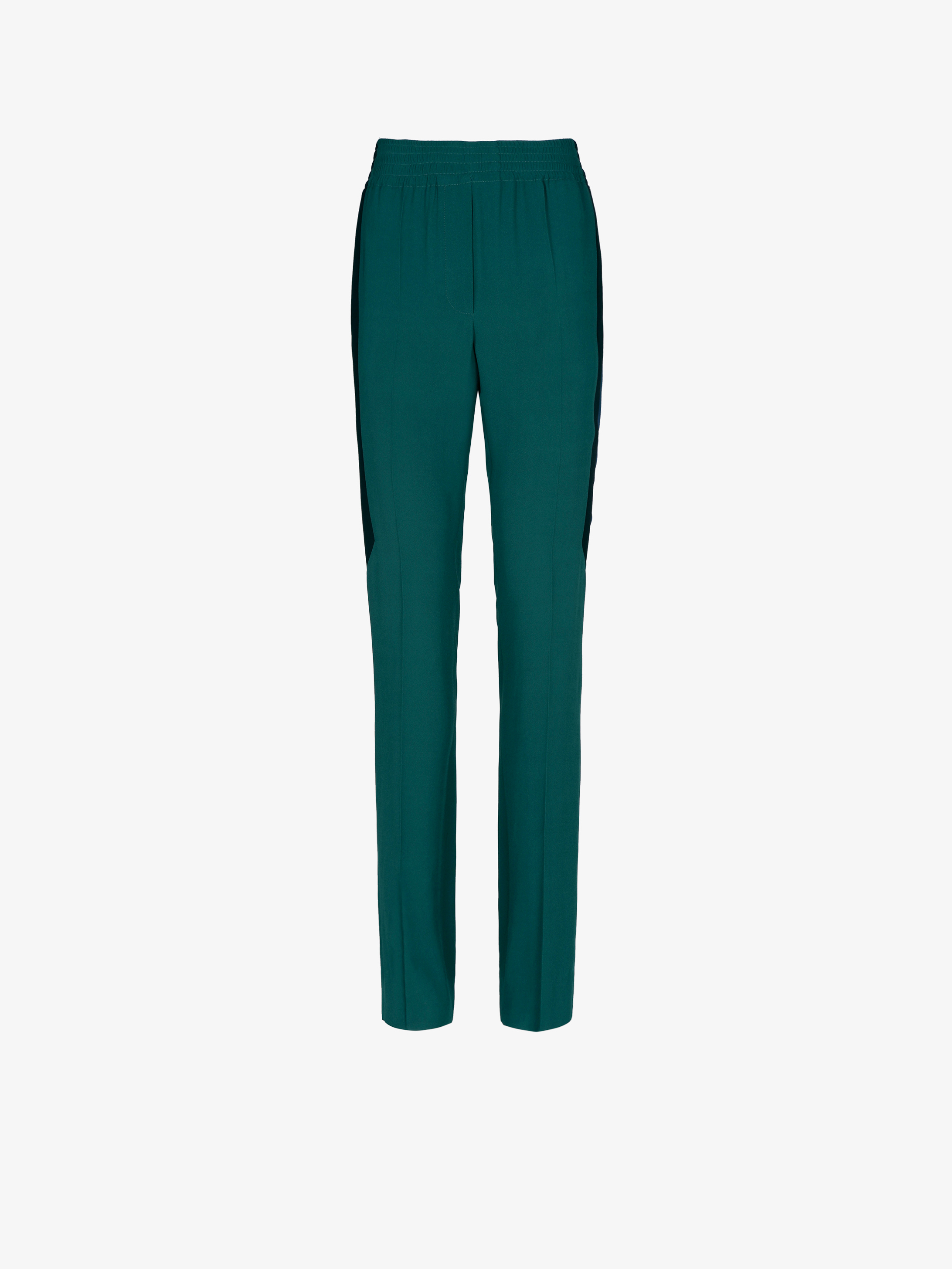 Elasticated formal trousers with contrasted band