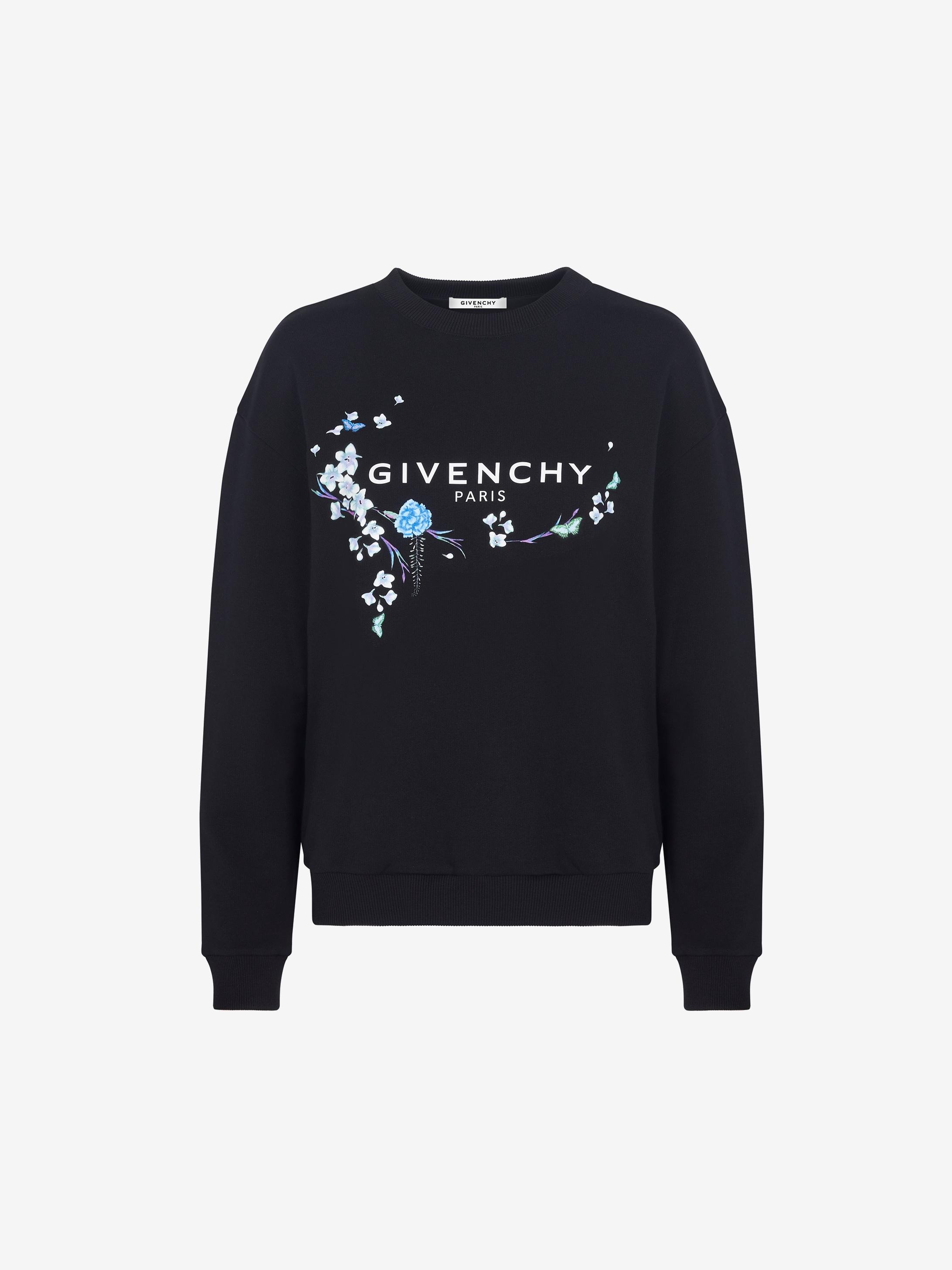 GIVENCHY floral printed sweatshirt