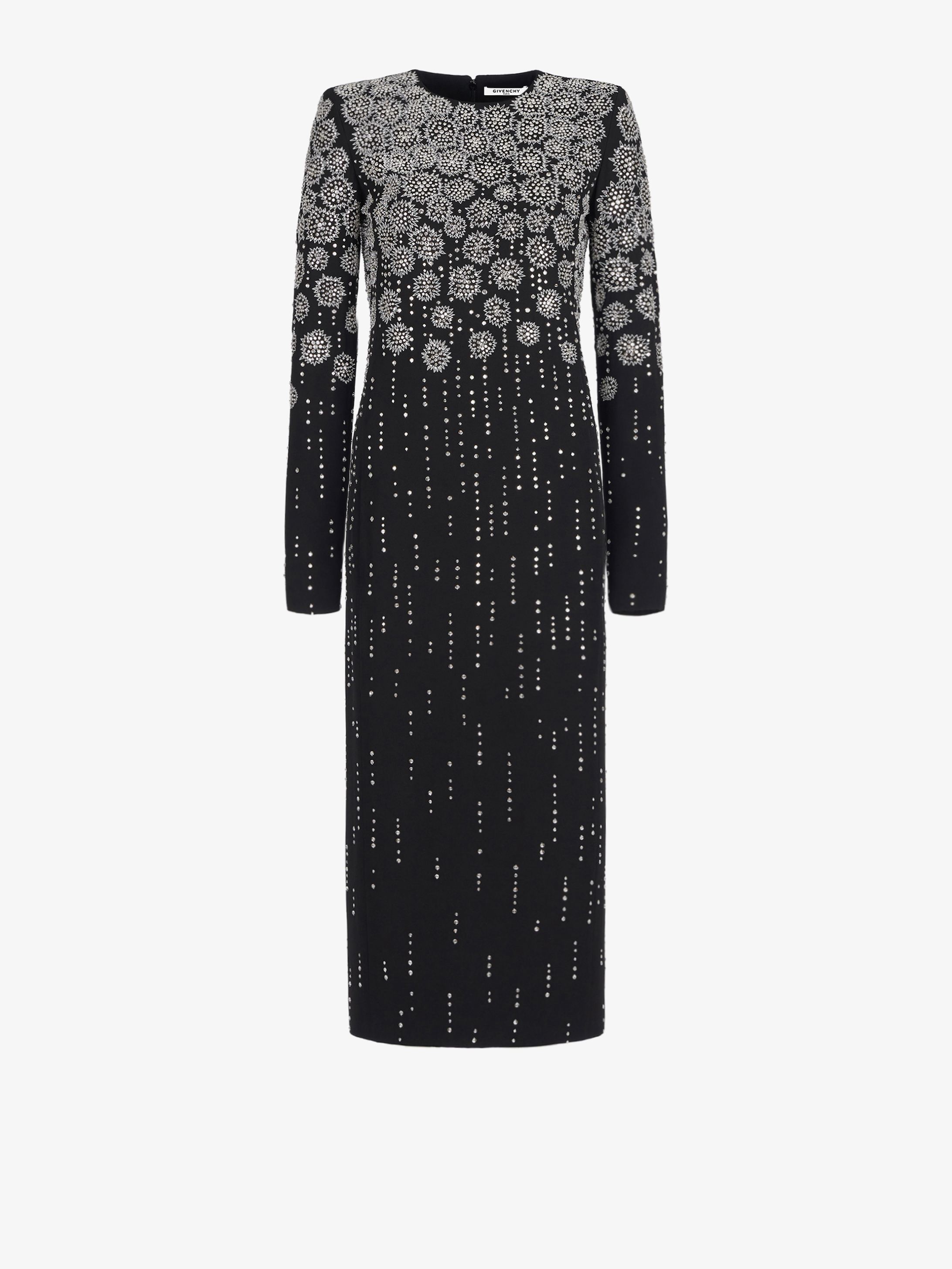 Long dress with embroideries