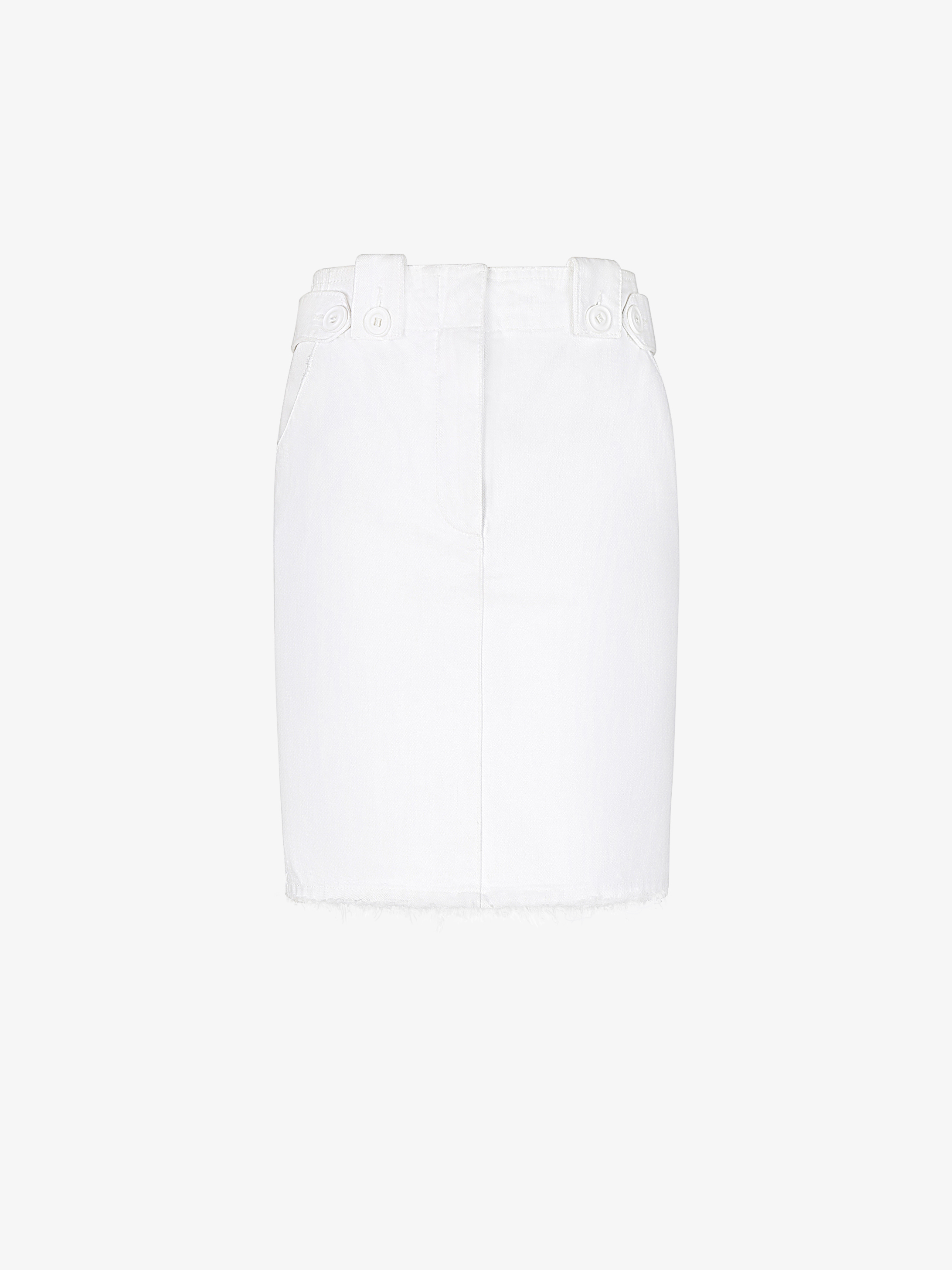 Mini-jupe militaire en denim