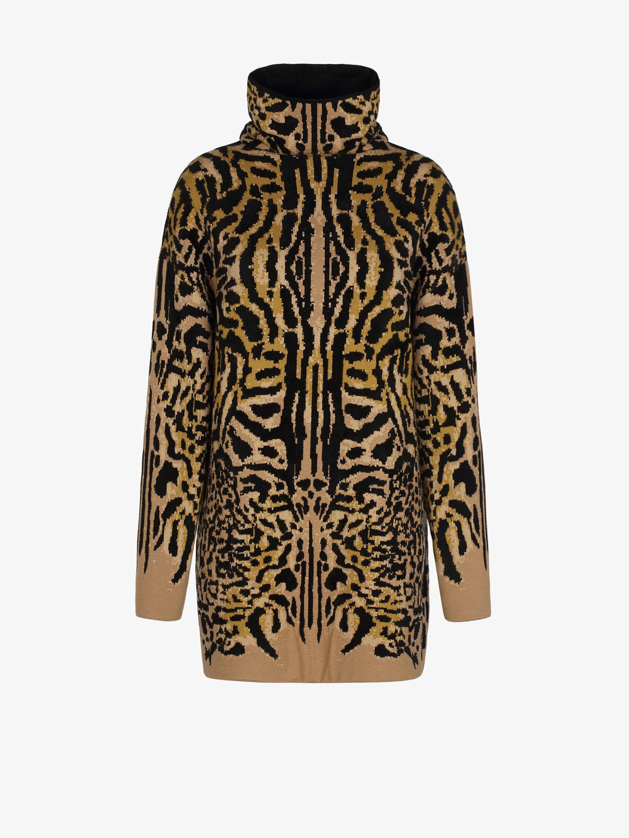Pullover oversize in jacquard ghepardato