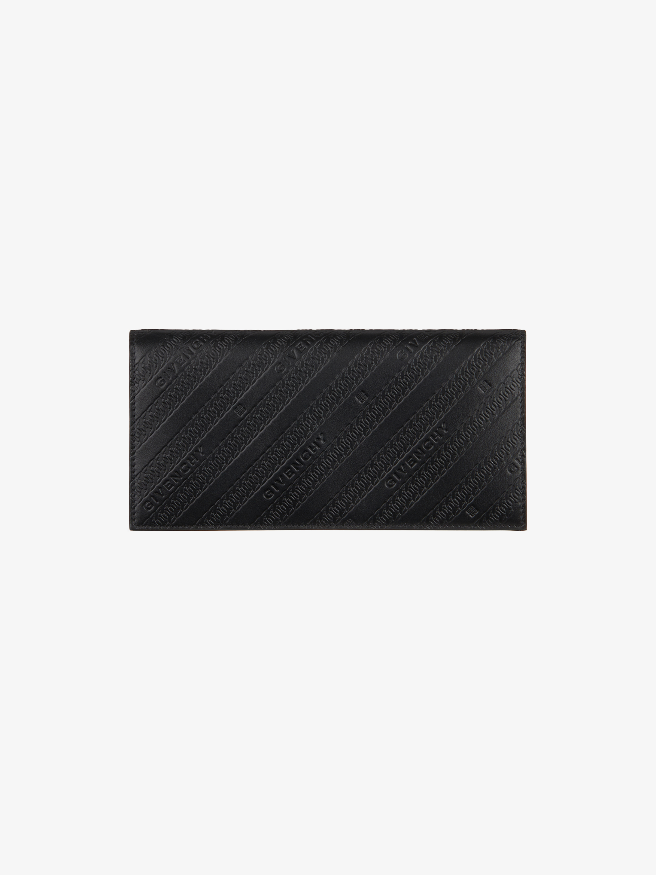GIVENCHY long wallet with lapel in leather
