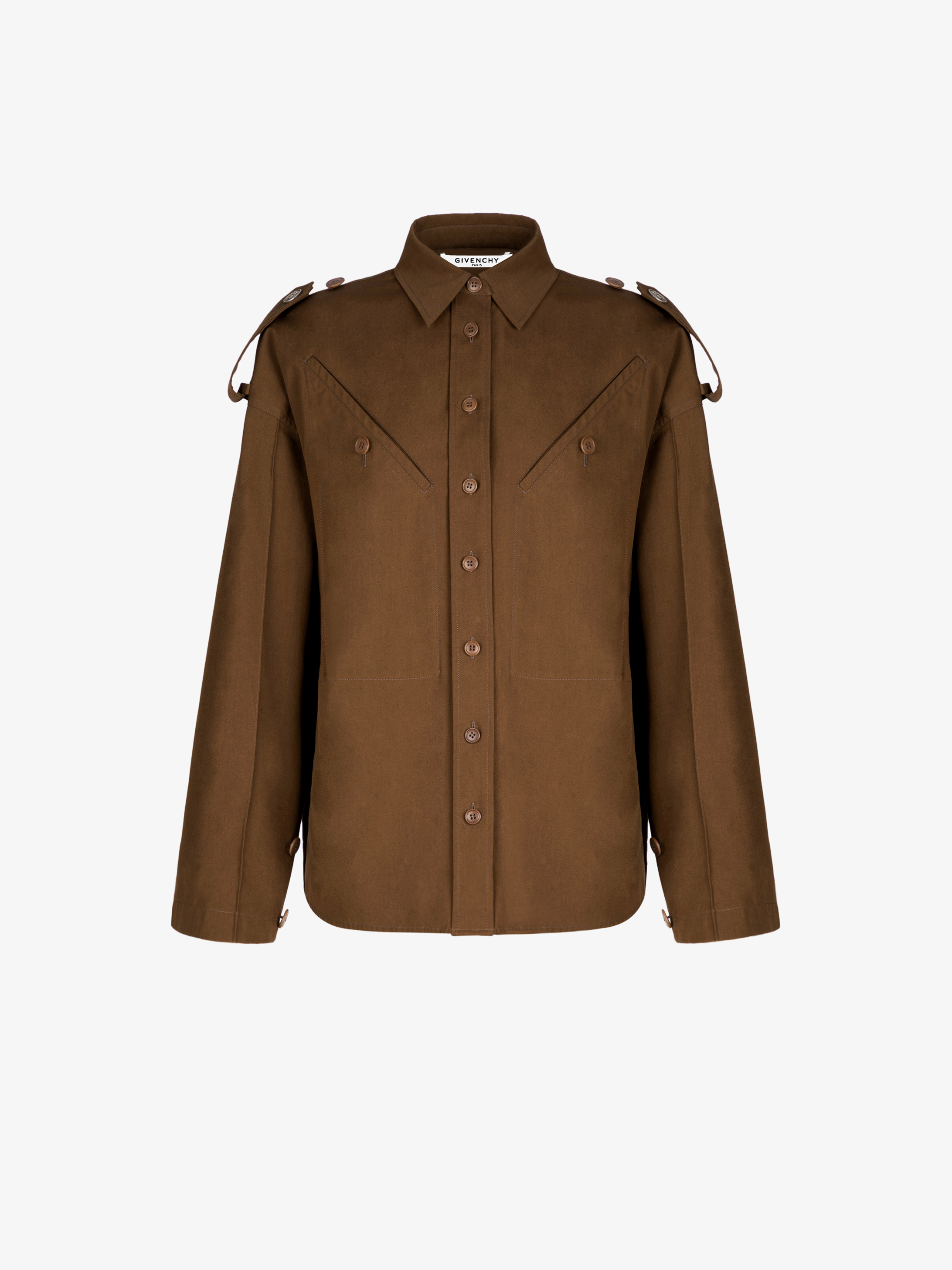Military shirt with 4G buttons
