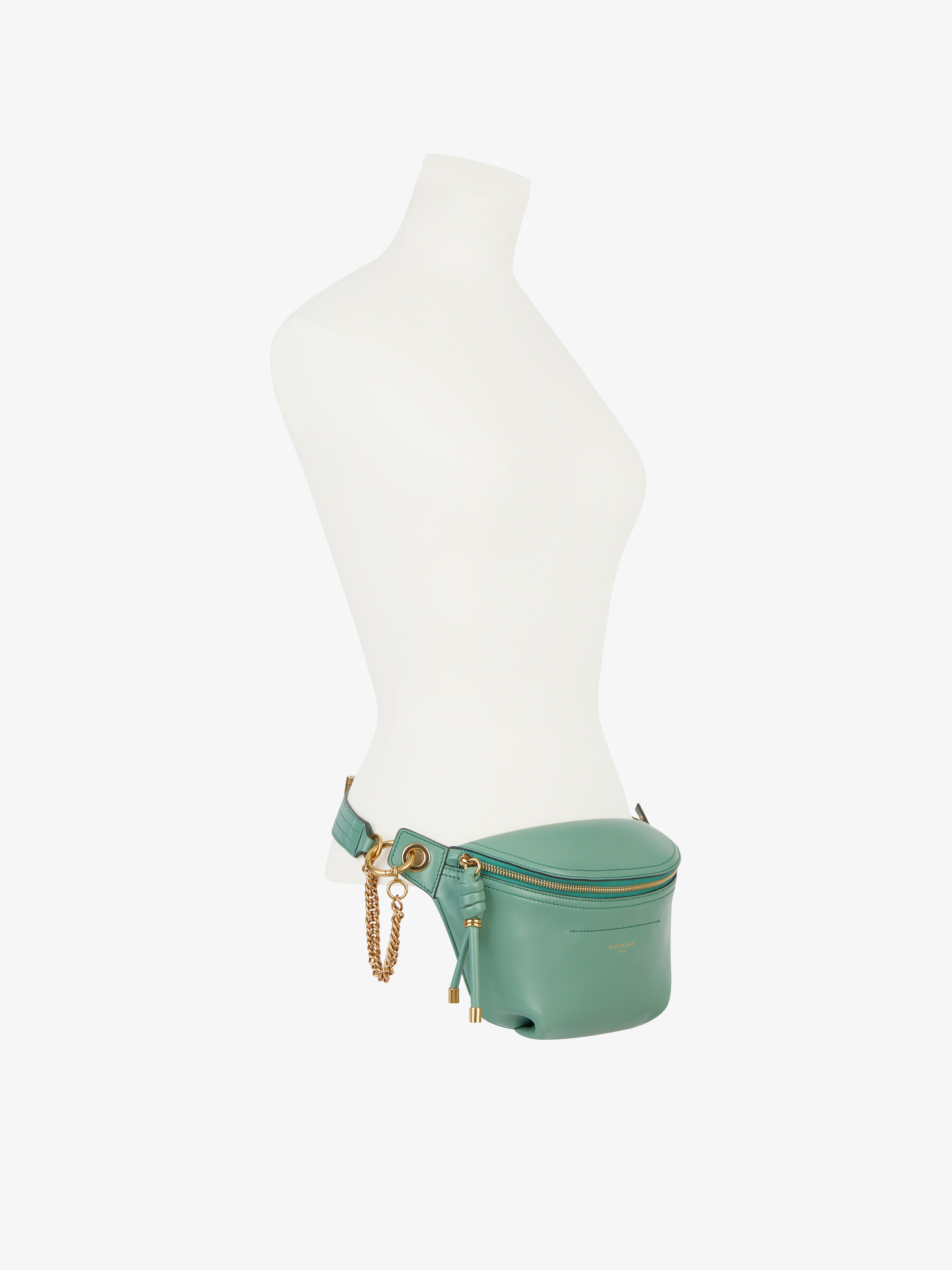 Whip bum bag in smooth leather