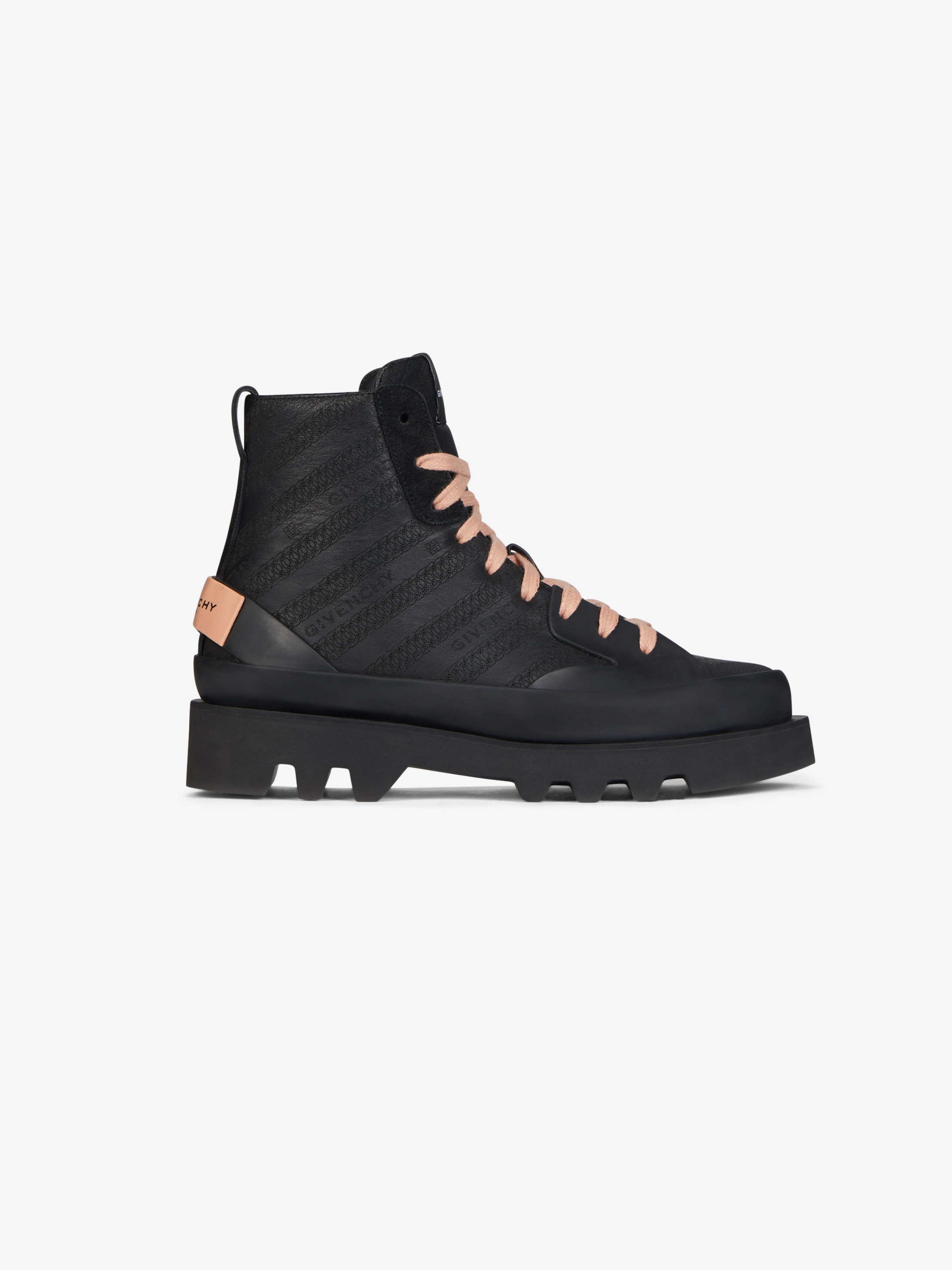 GIVENCHY Chain Clapham mid sneakers in leather