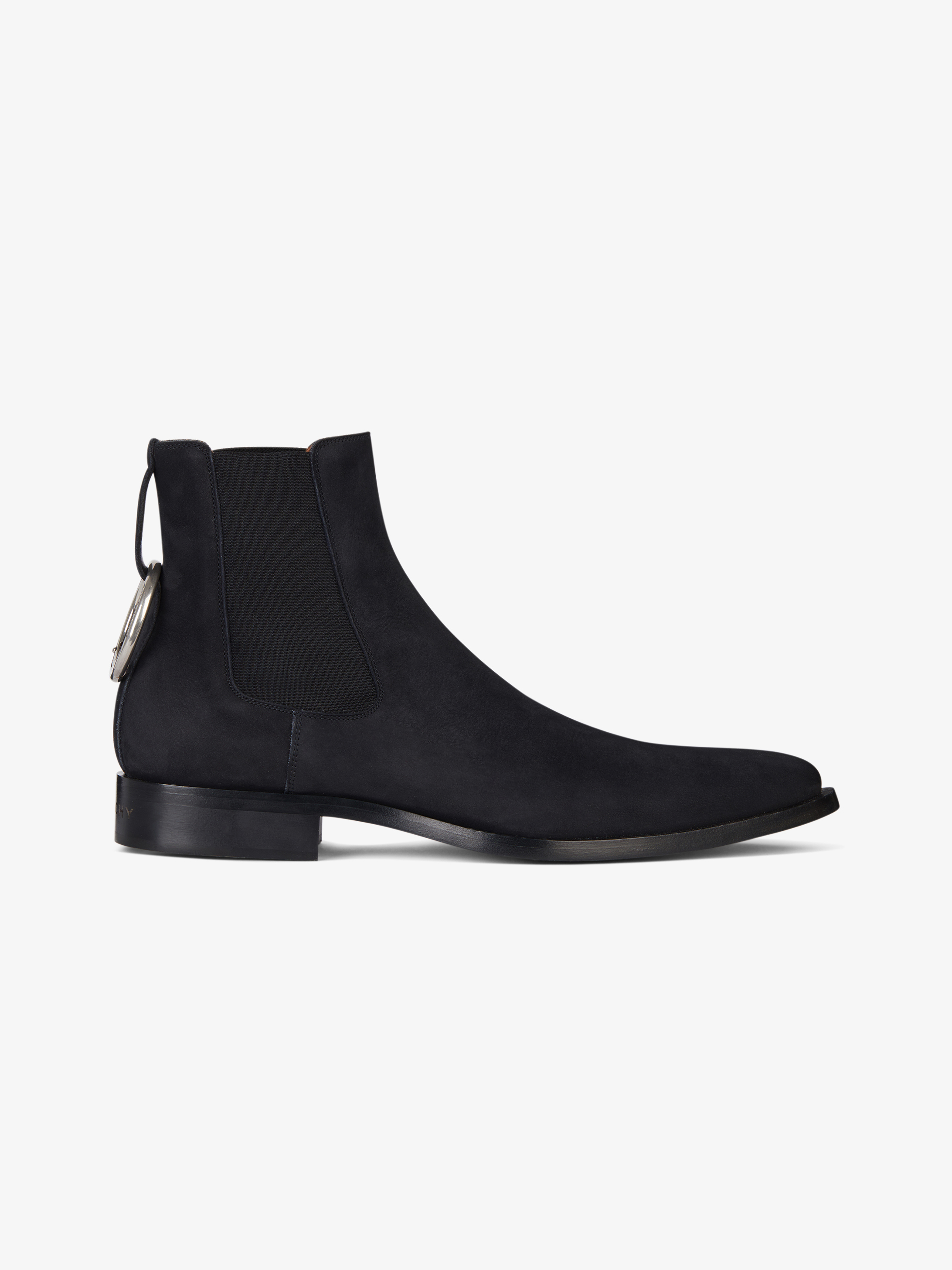 Dallas chelsea boots in nubuck with ring