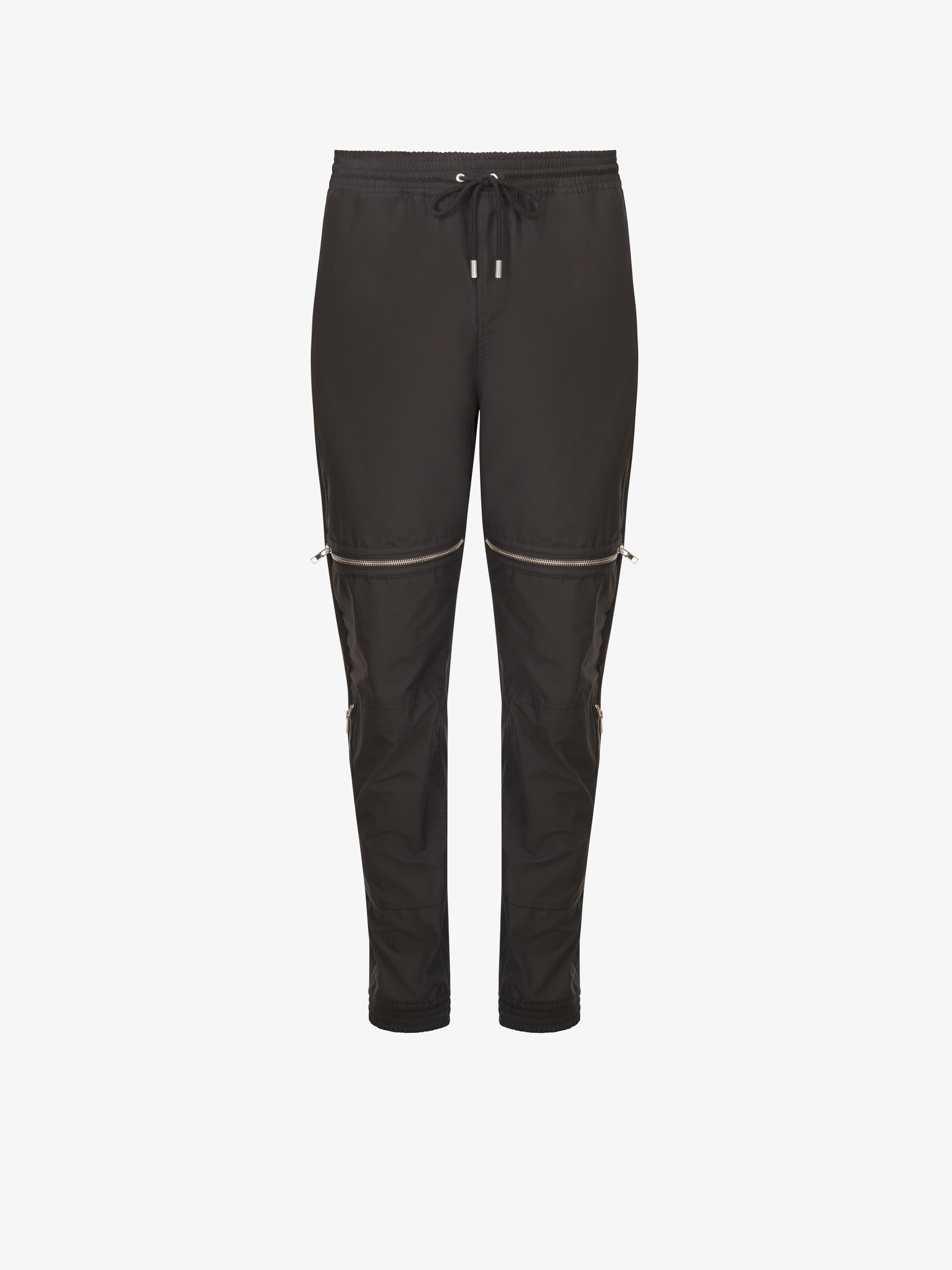 Zip detailed pants in cotton