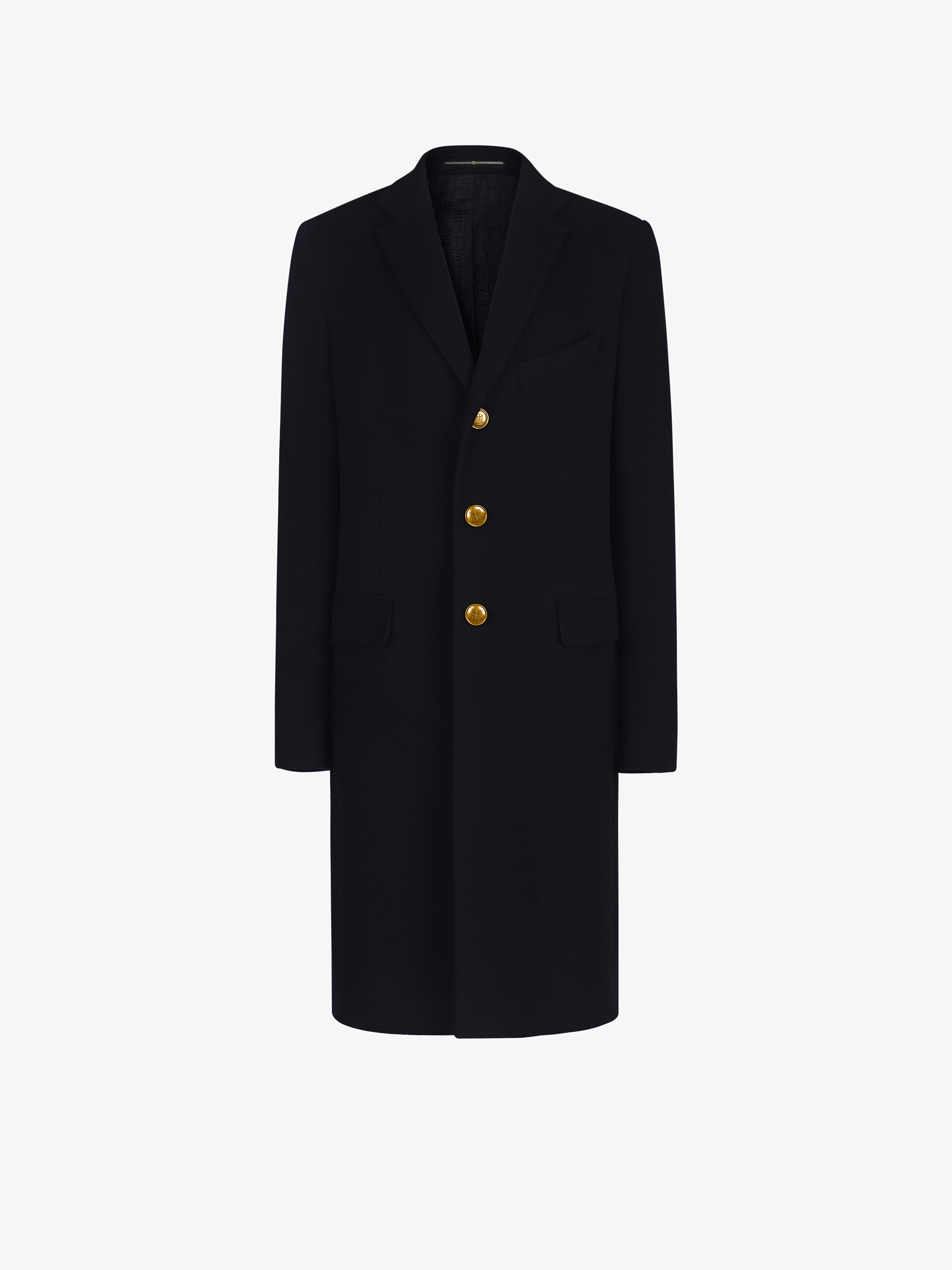Long coat with gold 4G buttons