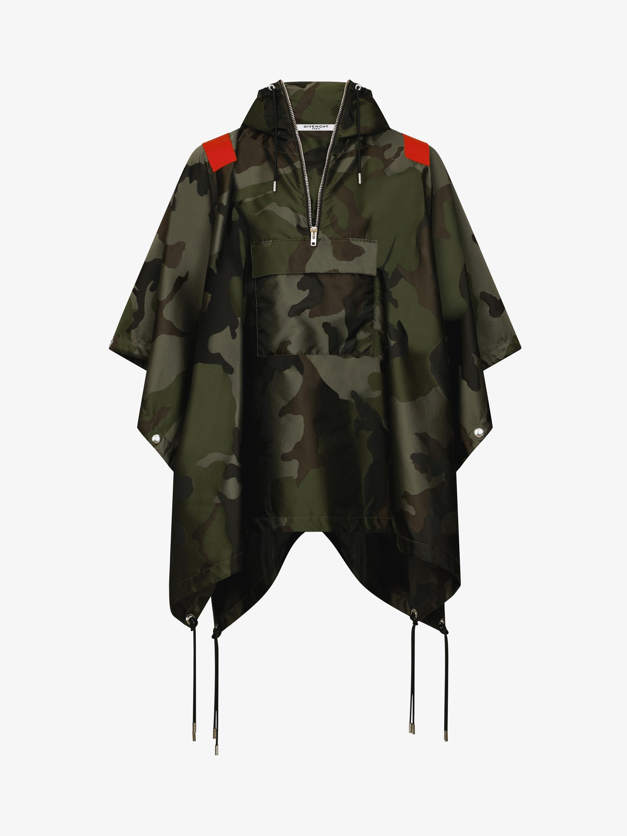 Military camo printed windbreaker