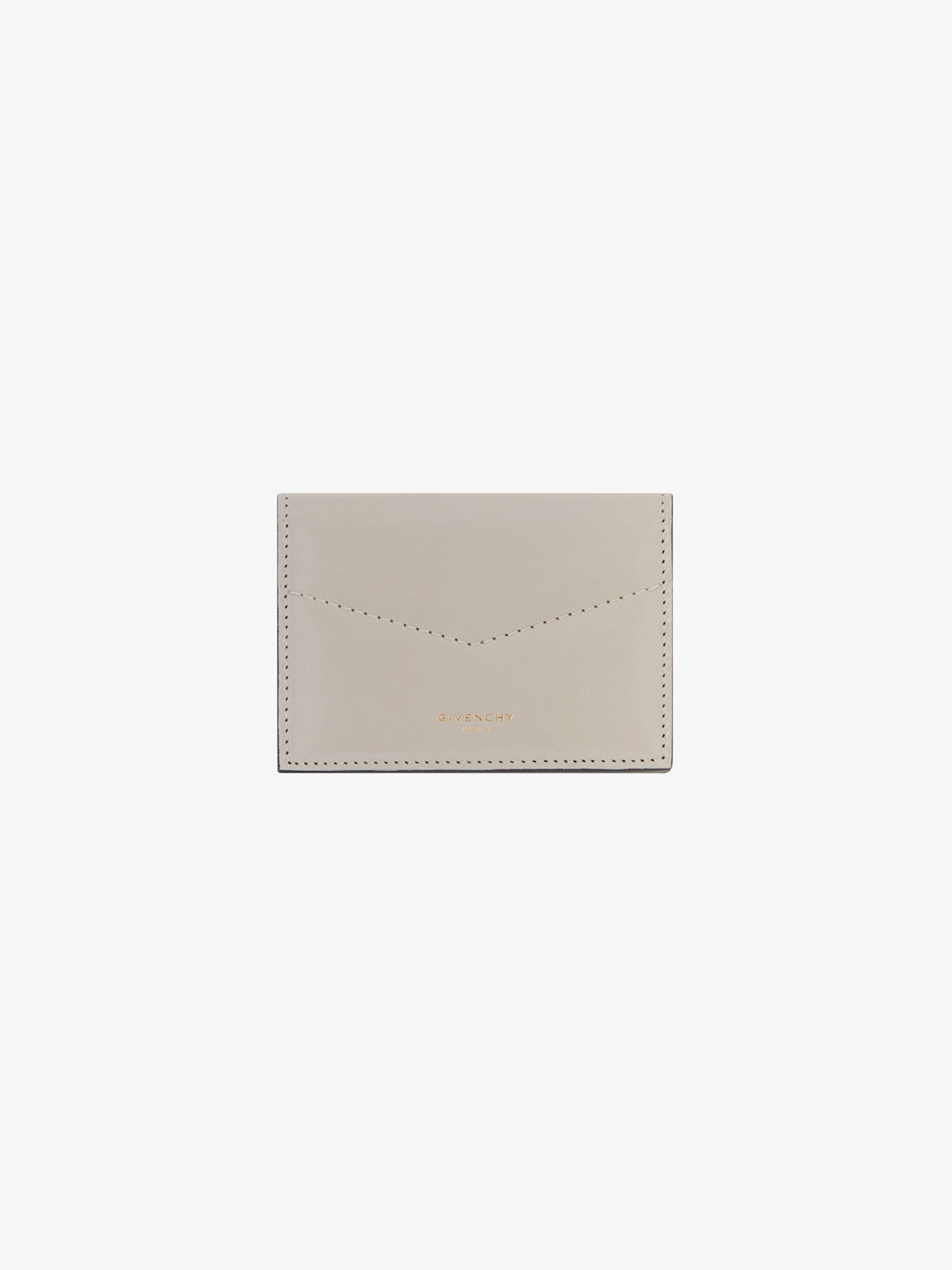 Edge business card case in leather