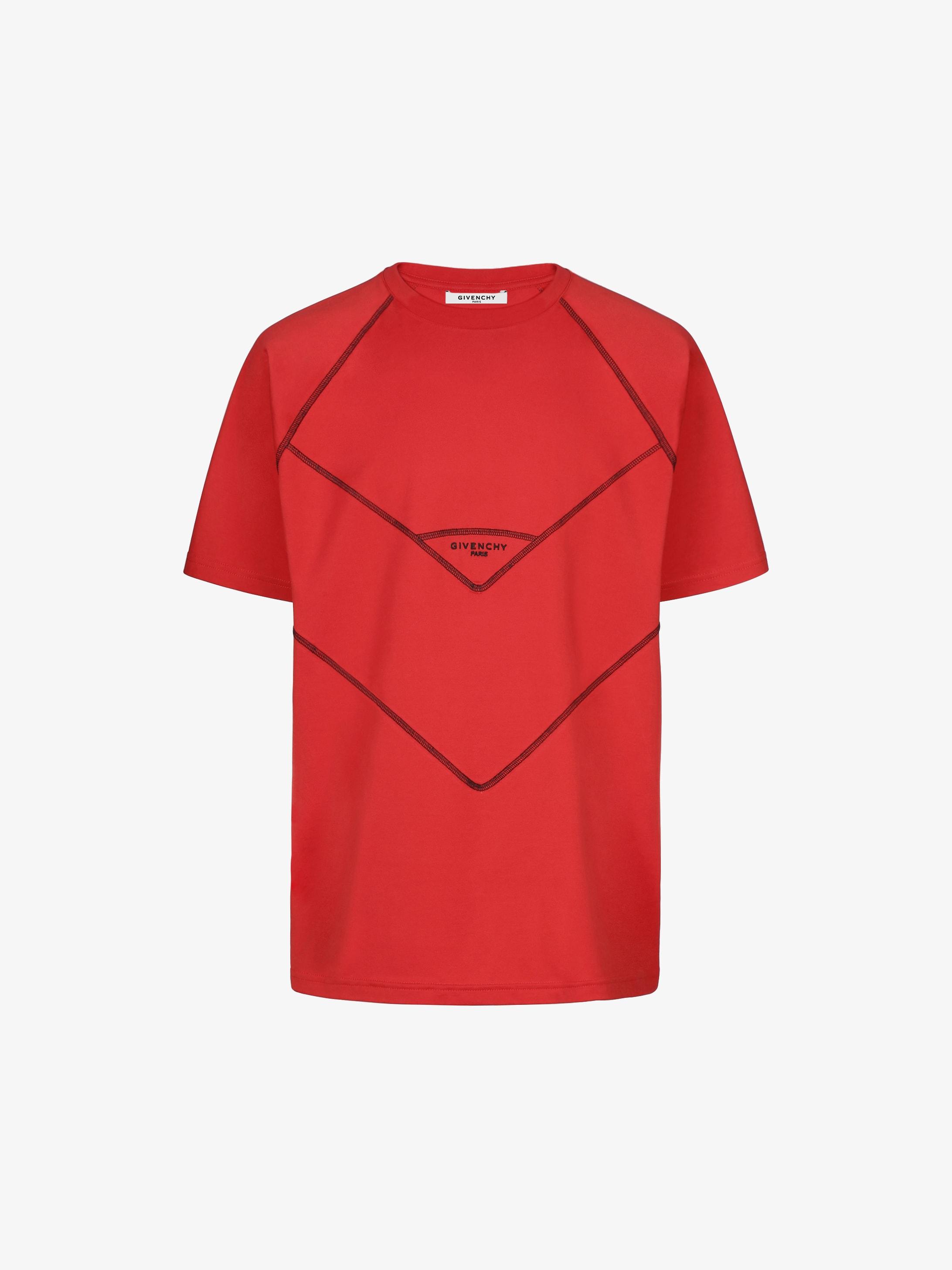 T-shirt à surpiqûres graphiques