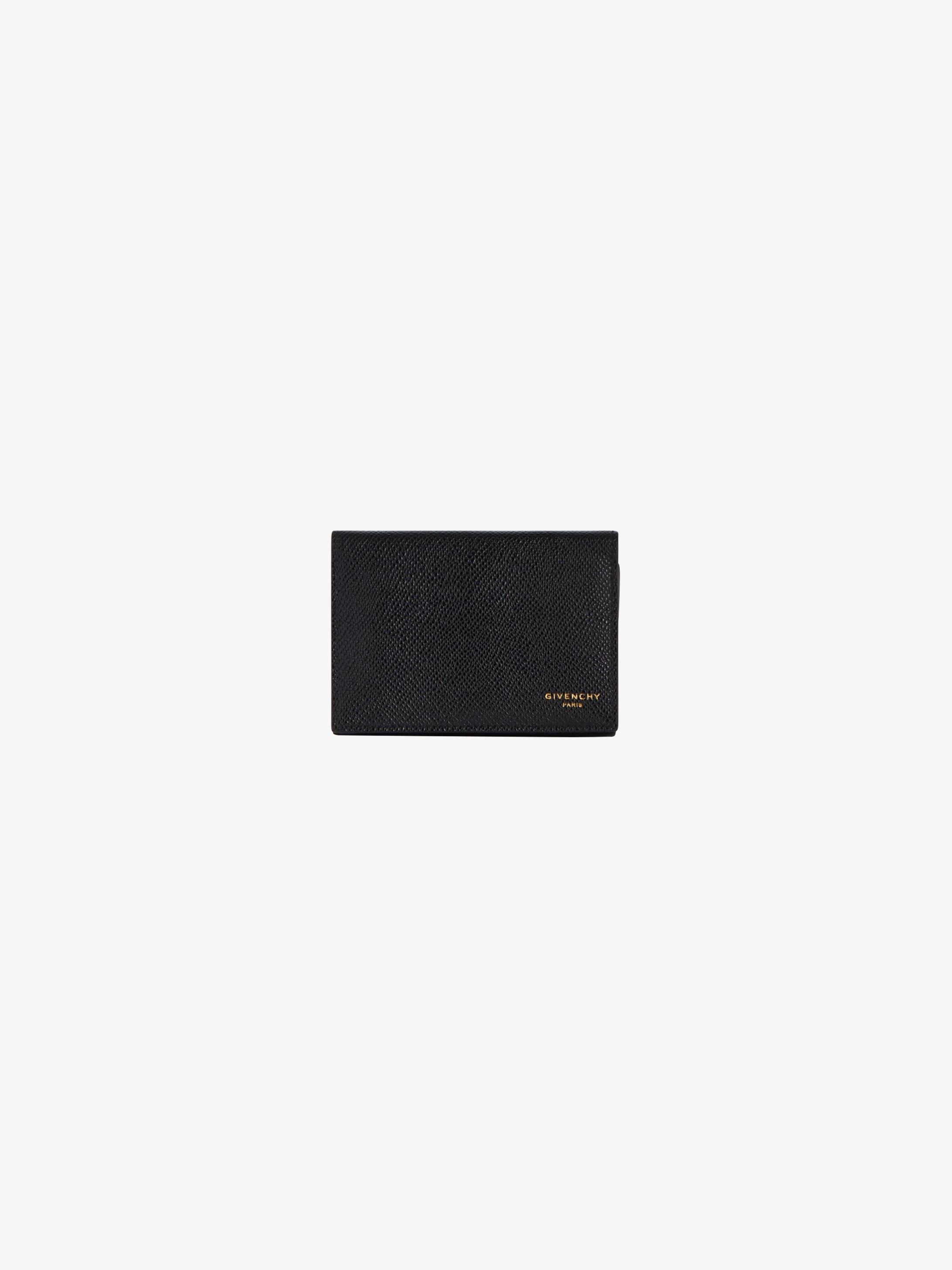 Porte-cartes de visite en cuir grainé
