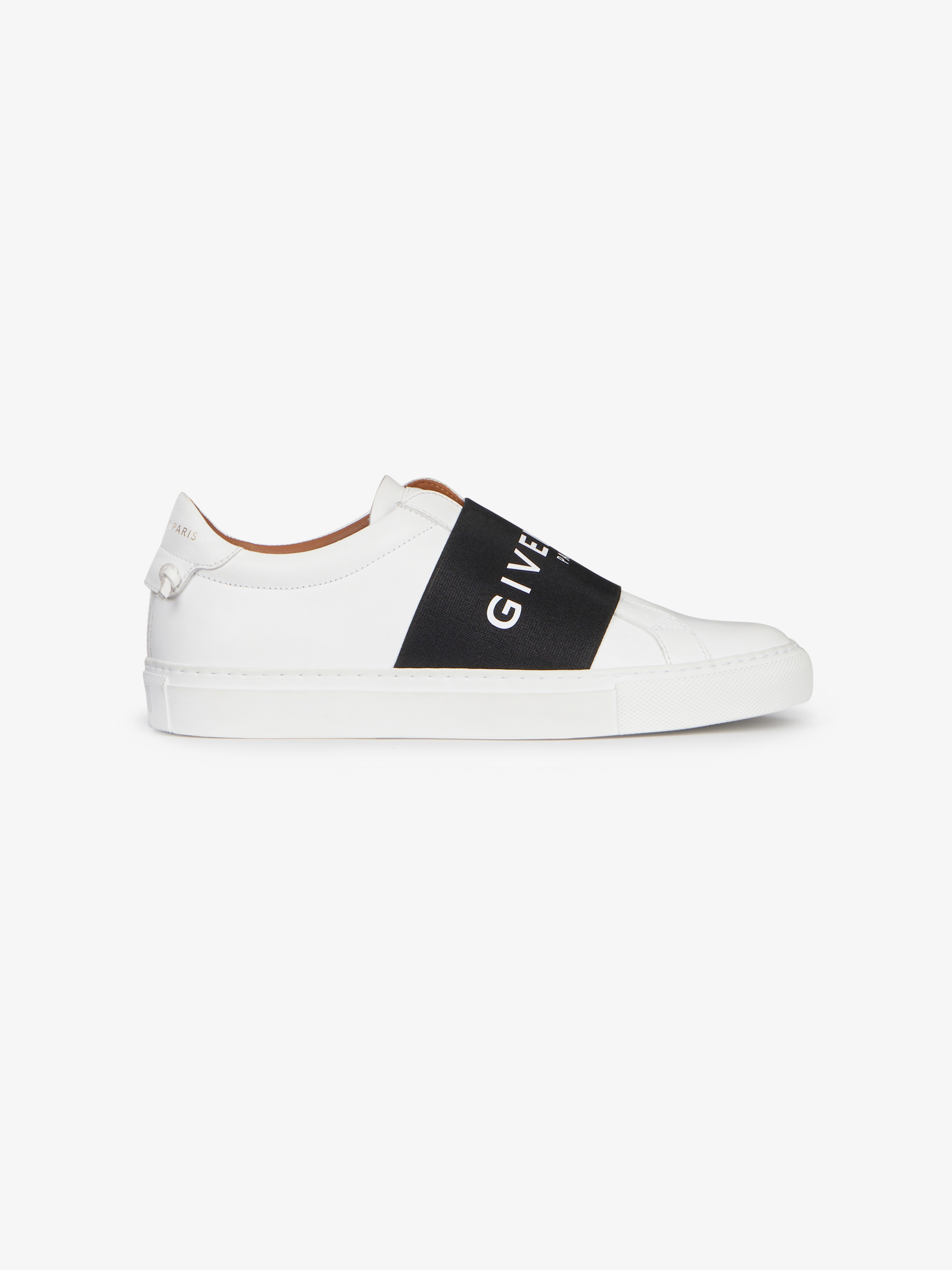 Sneakers in leather with GIVENCHY PARIS elastic strap