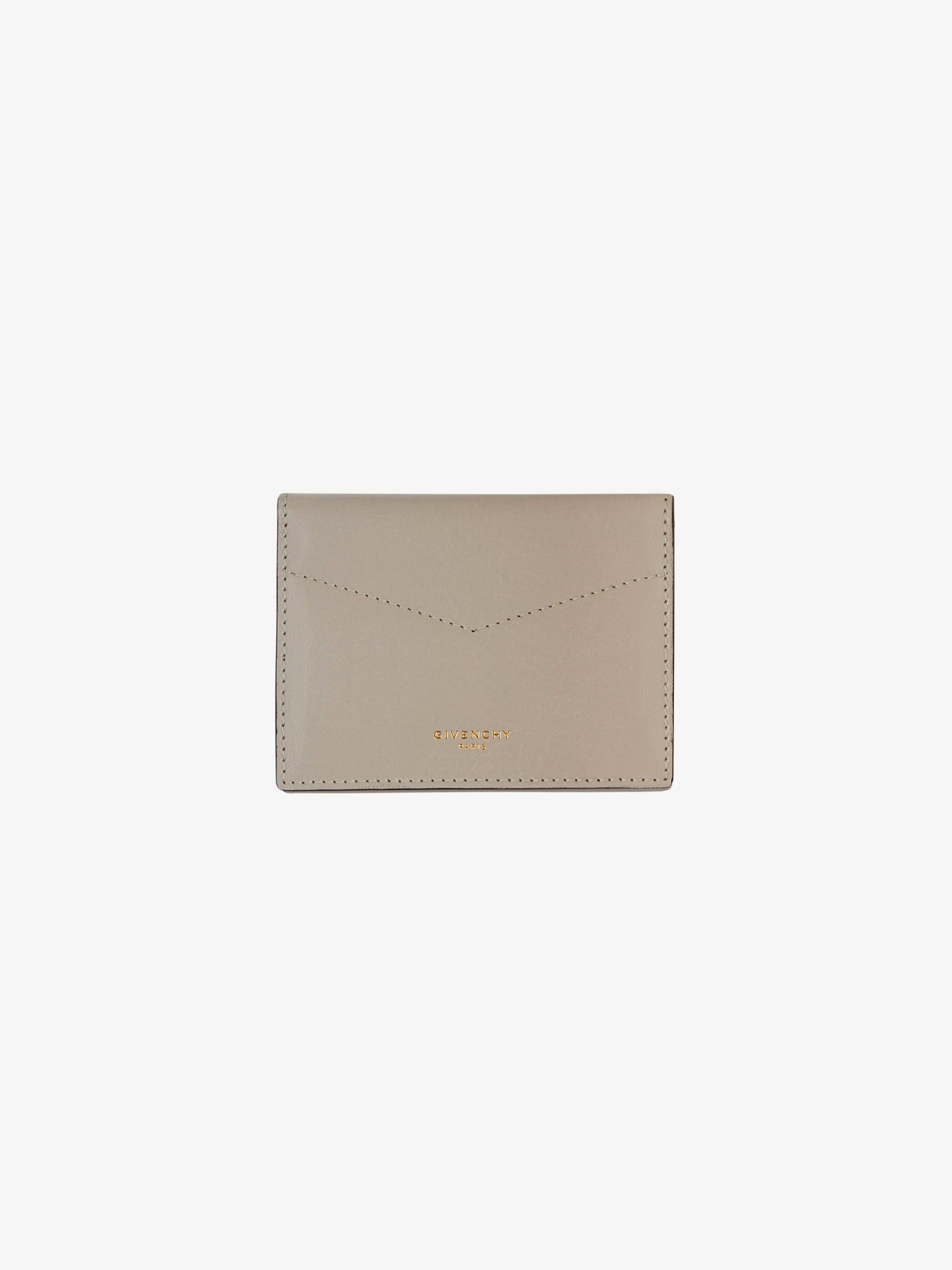 Mini wallet in leather