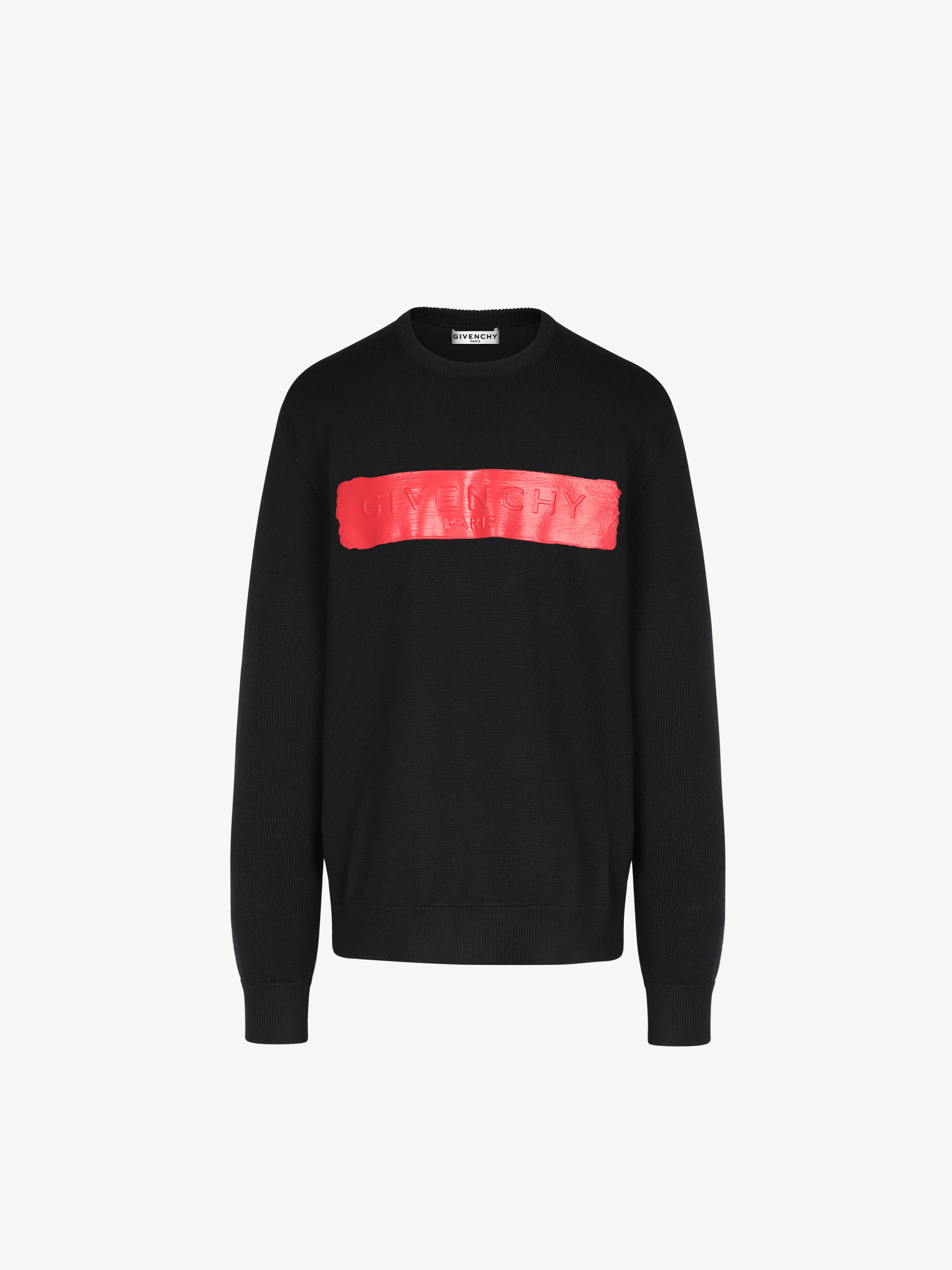 GIVENCHY sweater in wool with latex band