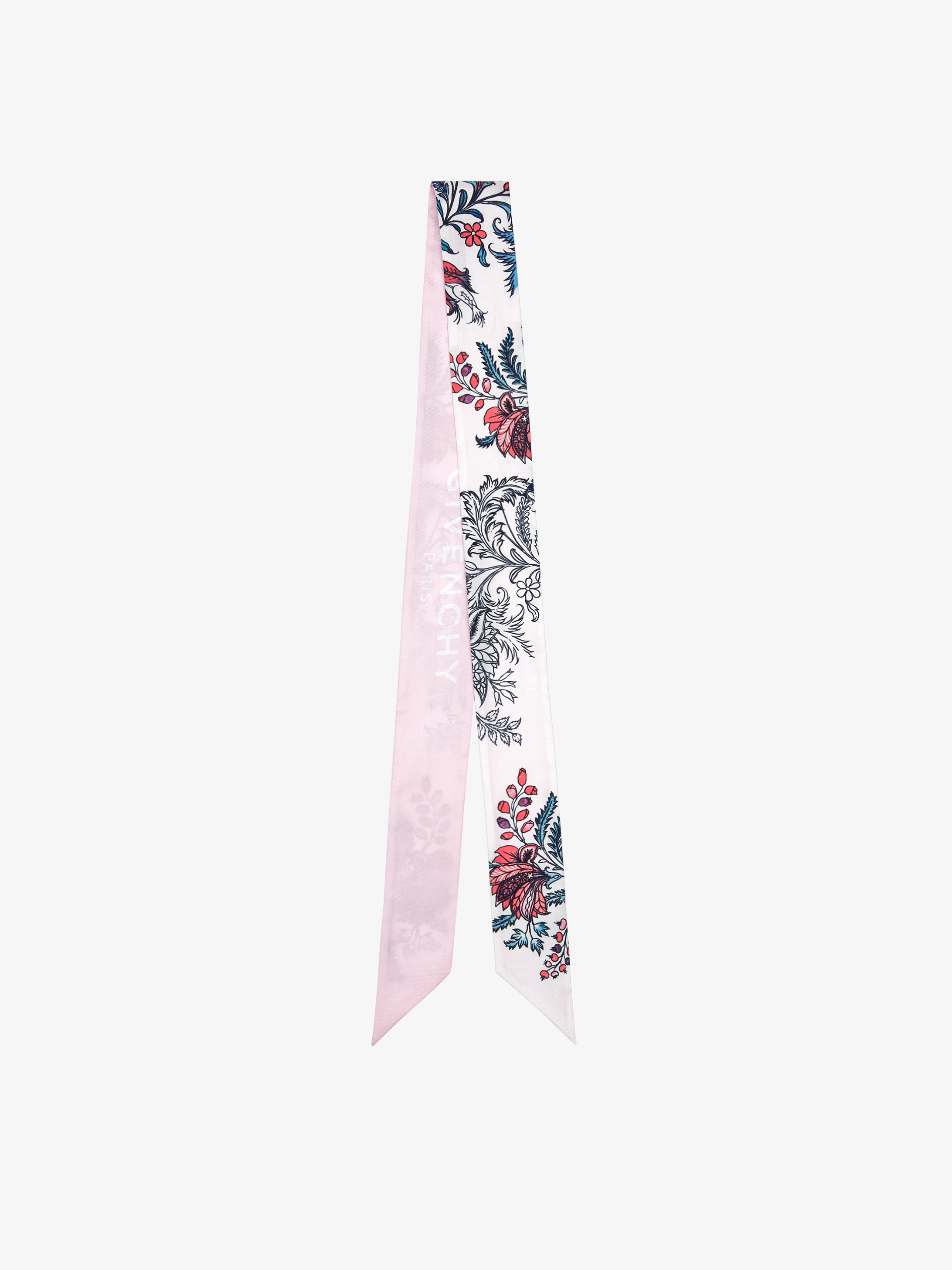 GIVENCHY heandband in floral printed silk