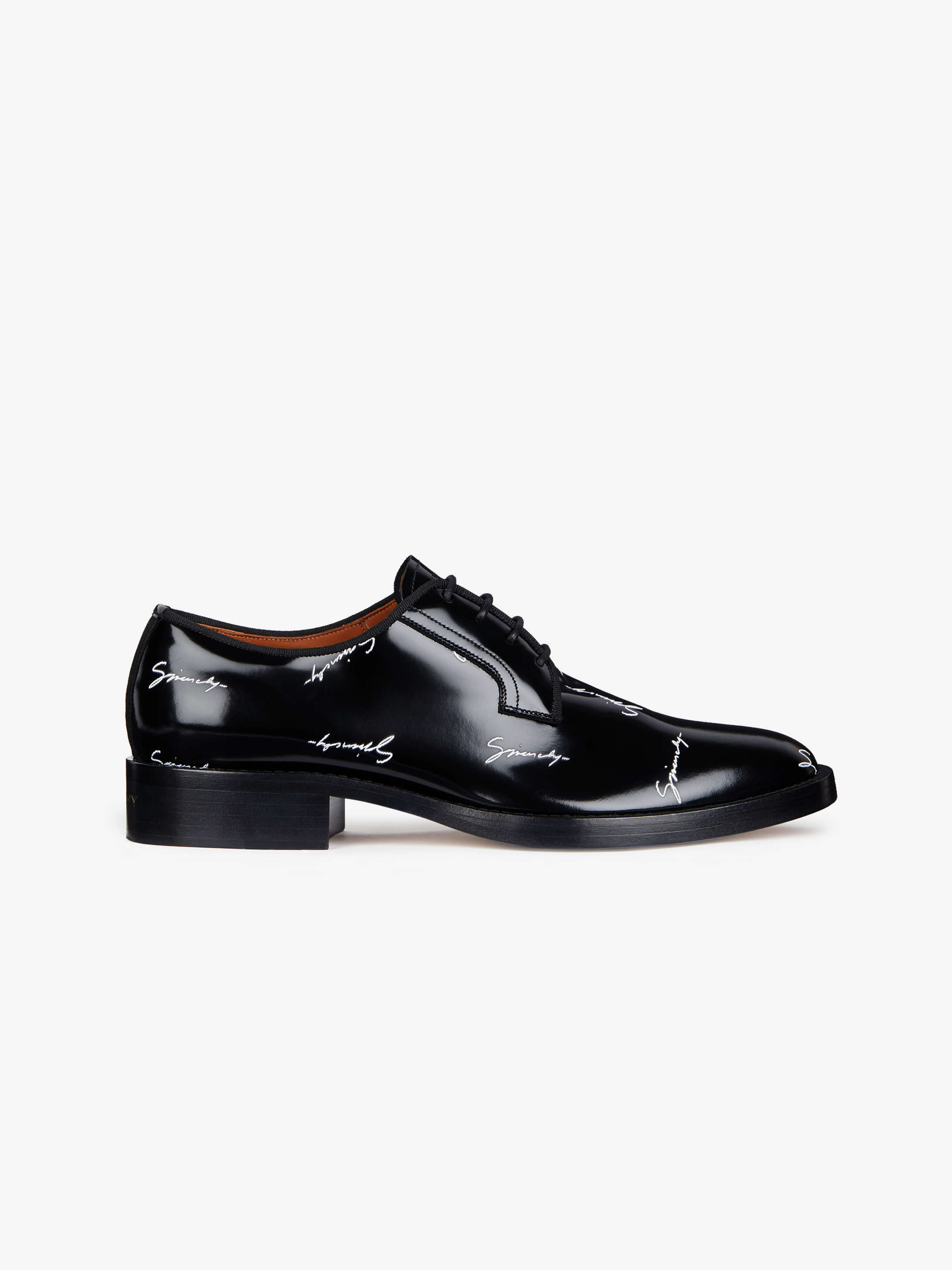 GIVENCHY signature derby shoes in patent leather