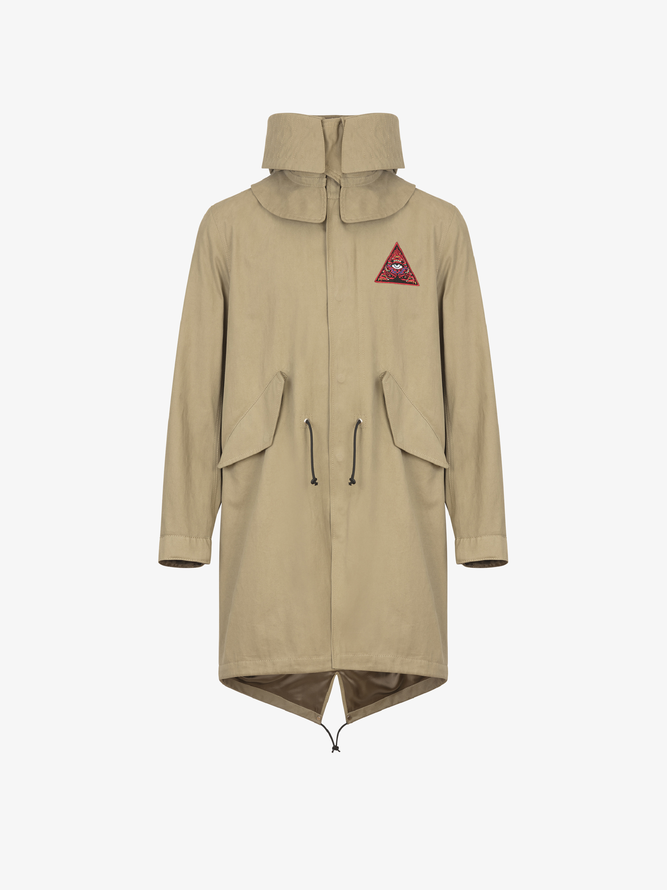 Third Eye patches hooded parka