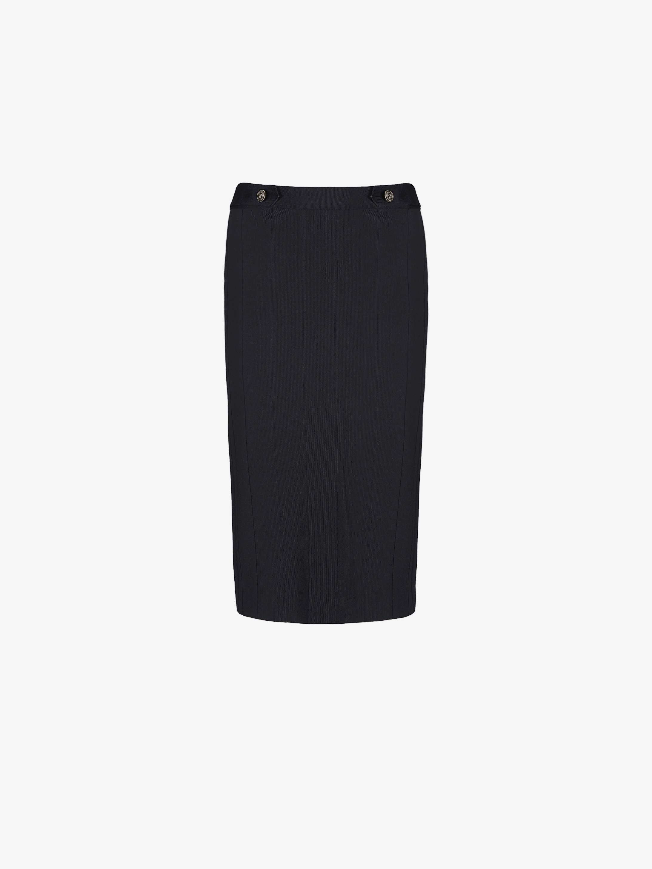 Midi pencil skirt with 4G gold buttons
