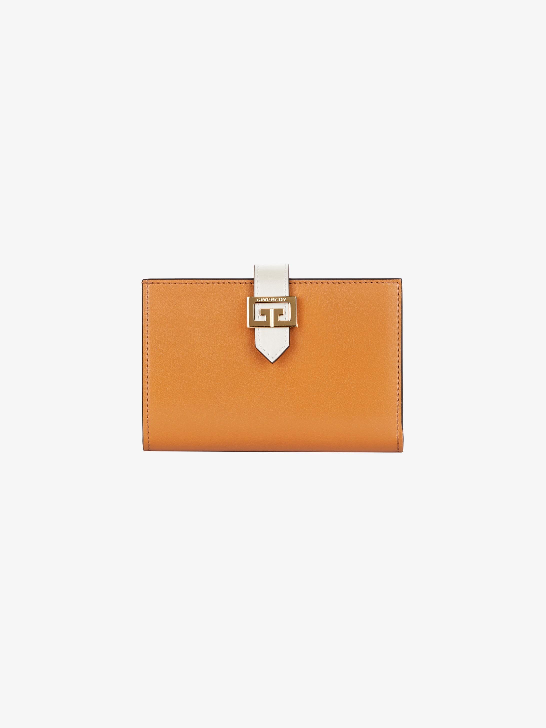 Portefeuille GV3 en cuir bicolore