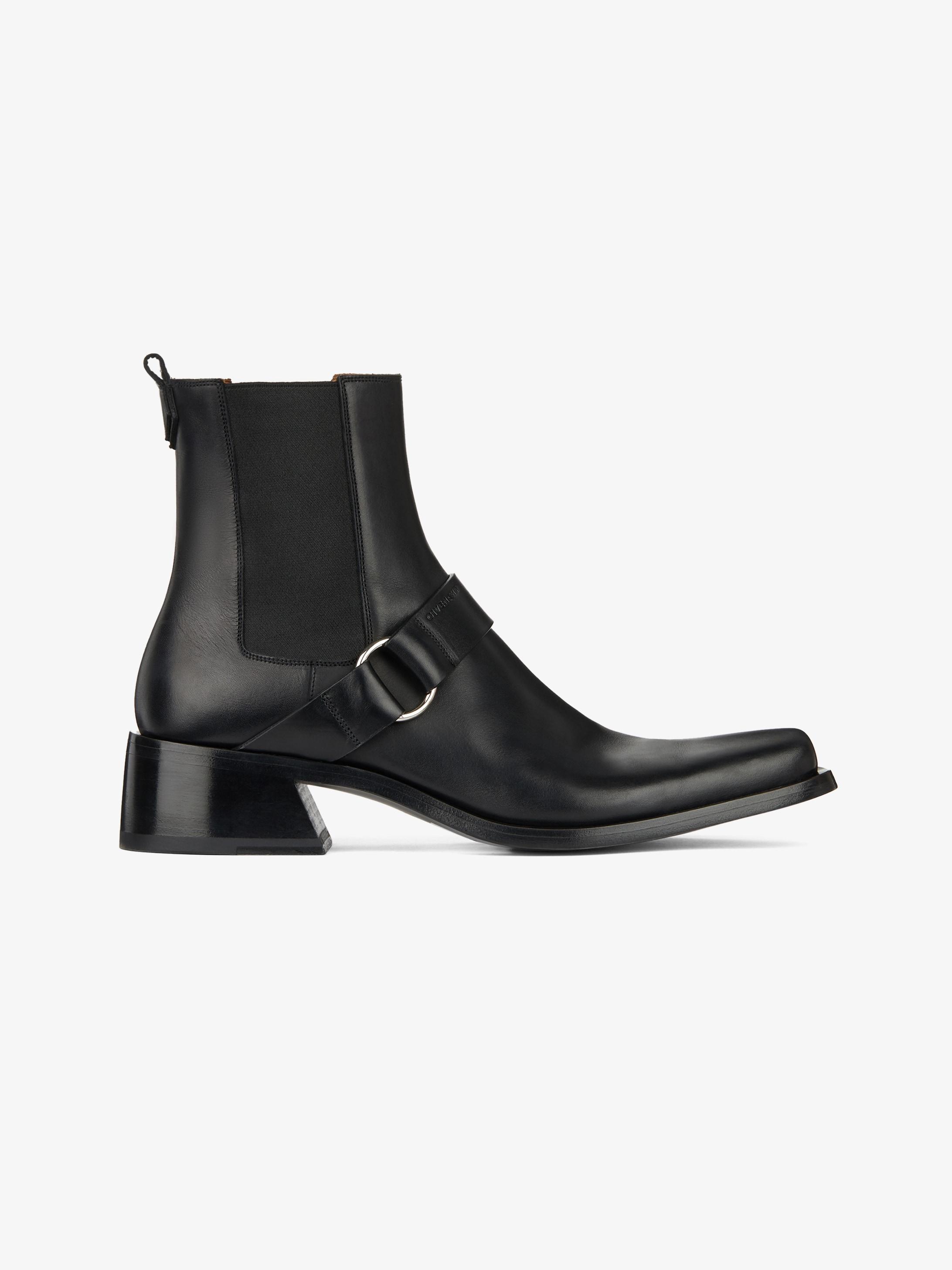 Austin皮革切尔西靴