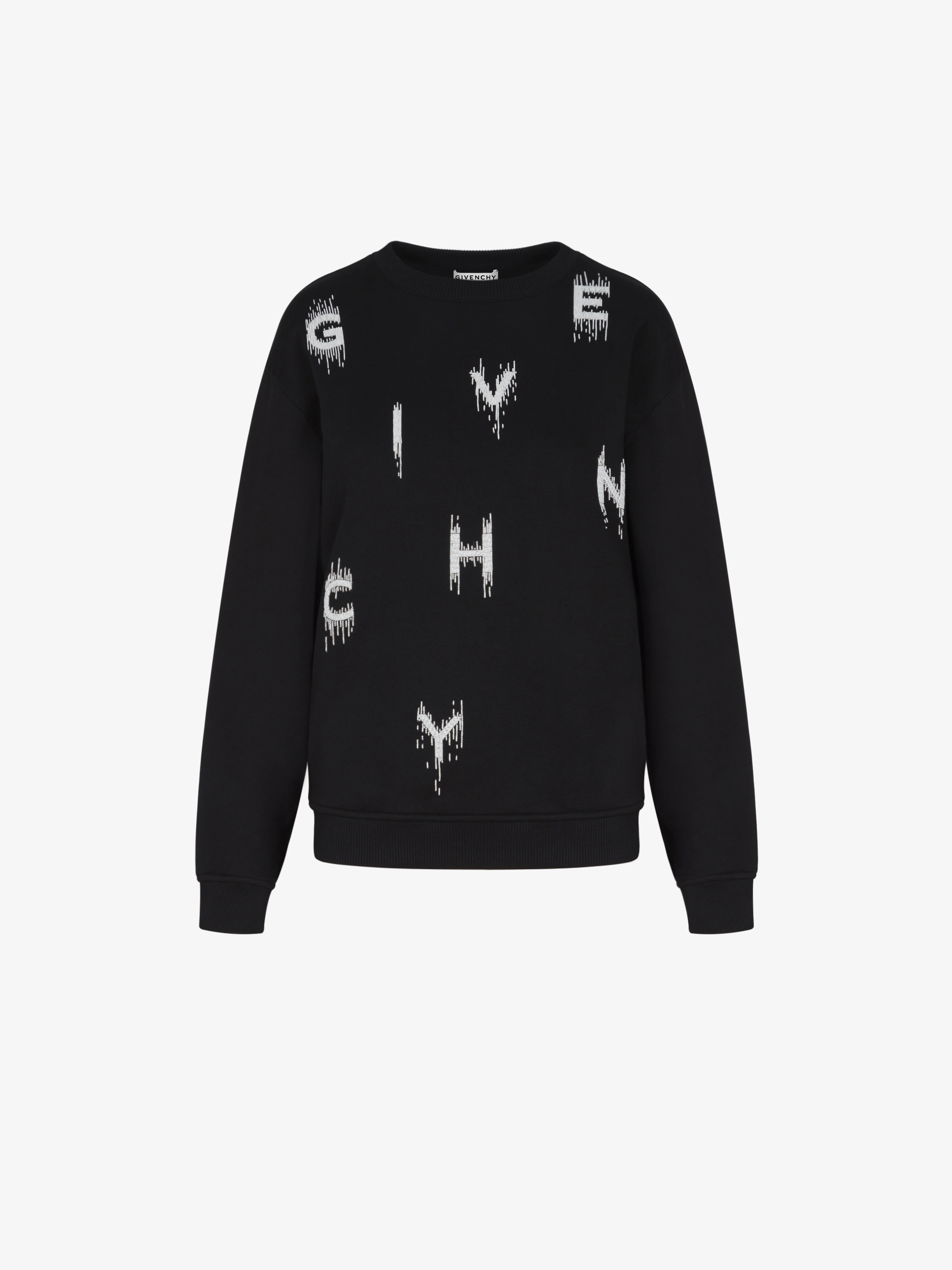 GIVENCHY pearls embroidered sweatshirt